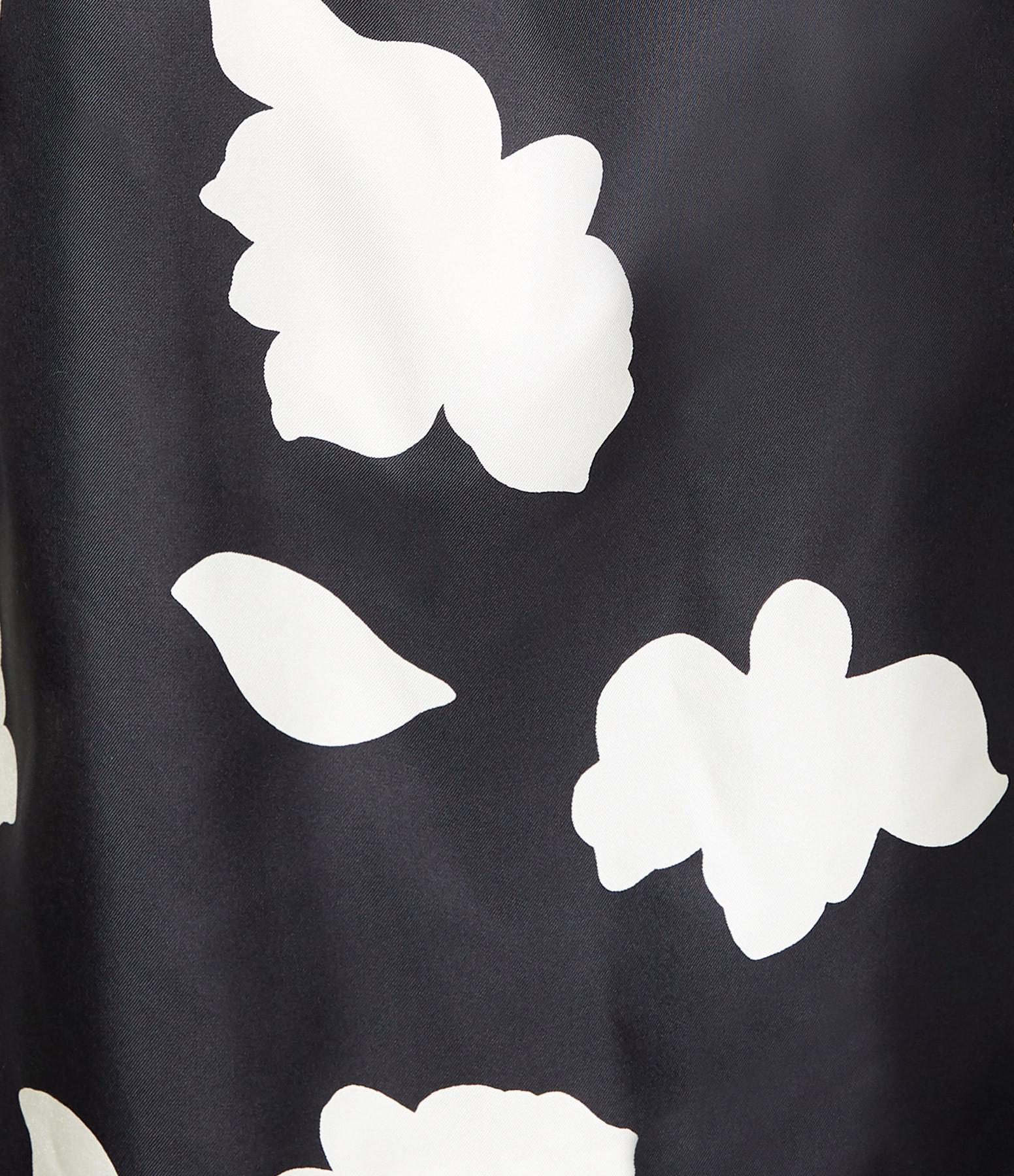 THEORY - Blouse Imprimé Pétale Soie Noir