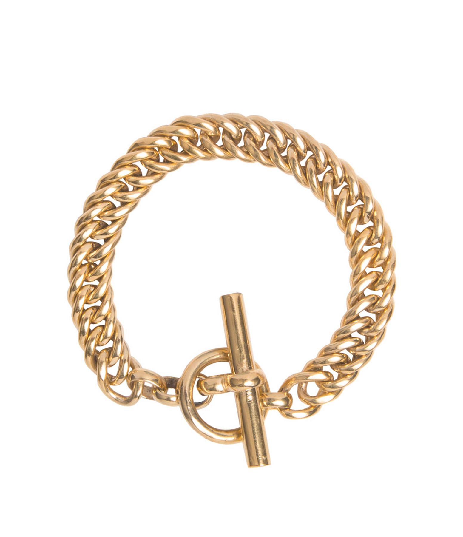 TILLY SVEAAS - Bracelet Curb Large Plaqué Or