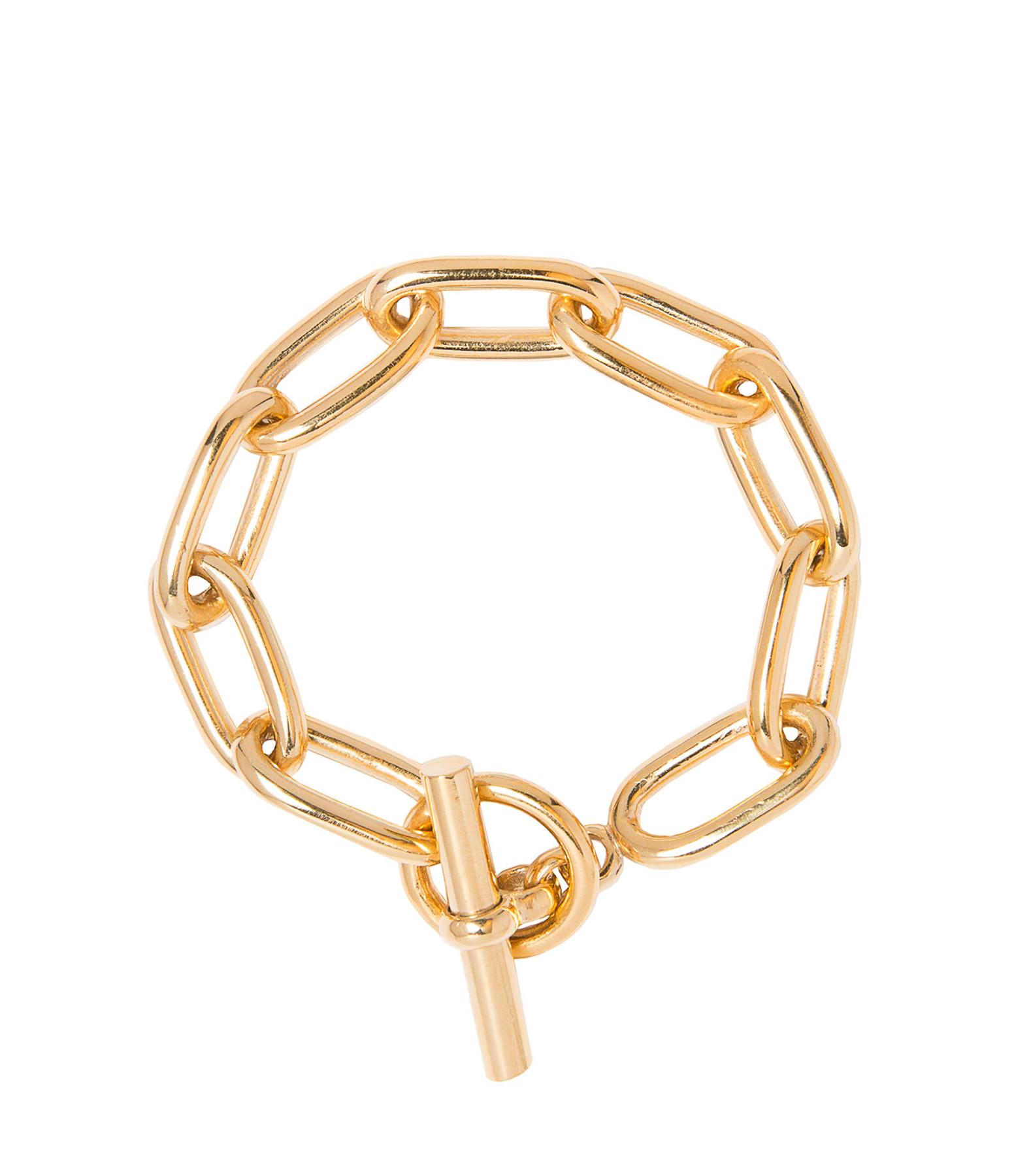 TILLY SVEAAS - Bracelet Oval Medium Plaqué Or