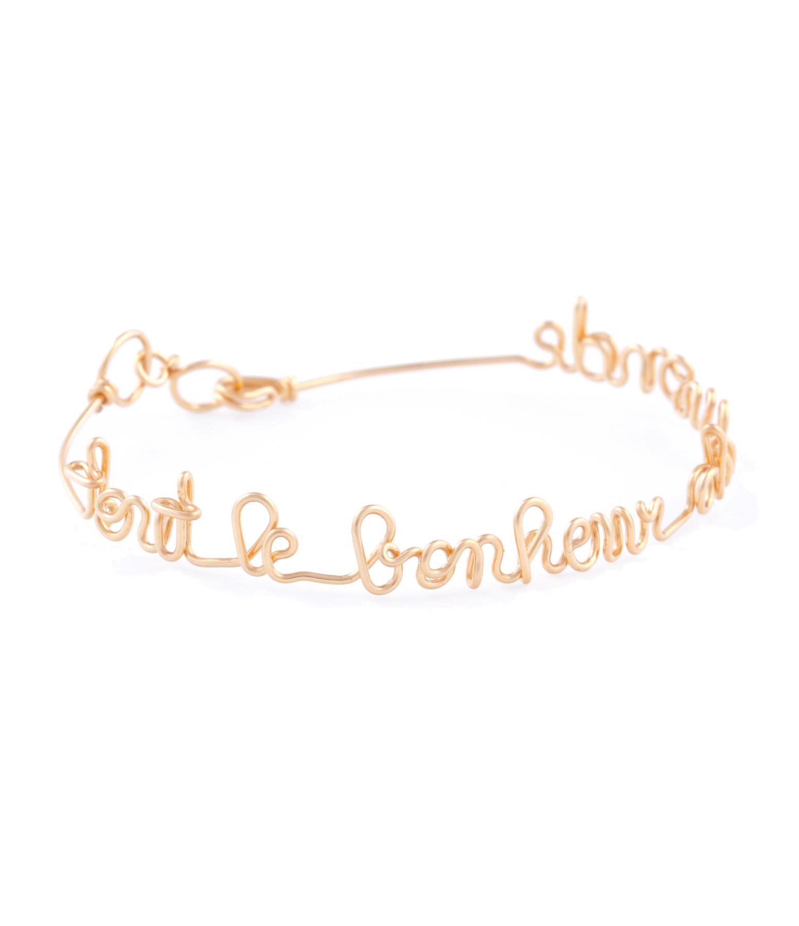 ATELIER PAULIN - Bracelet Fil Tout le Bonheur Gold Filled 14K