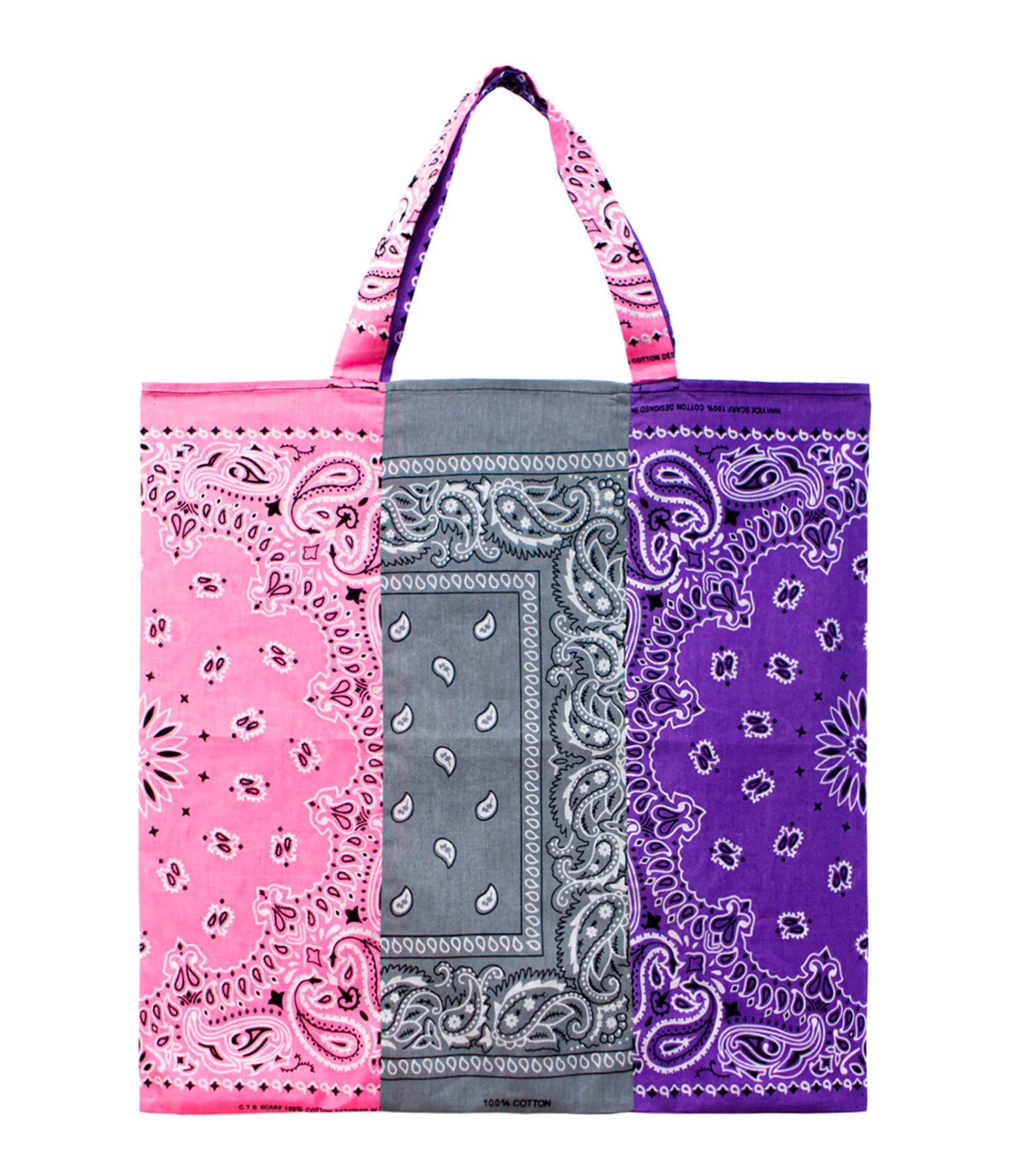 ARIZONA LOVE - Sac Tote Bag Bandana Tricolore Mix Rose
