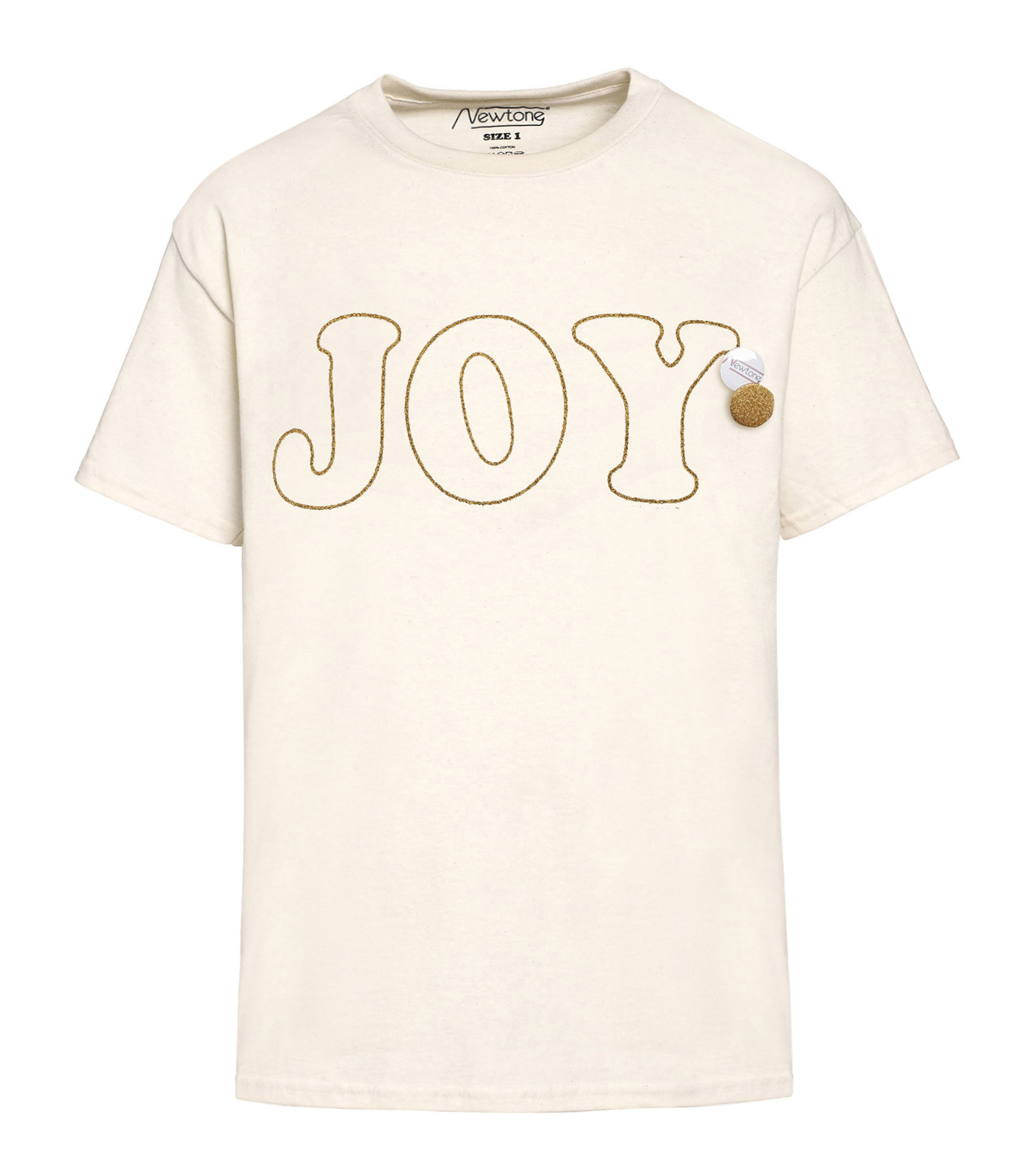 NEWTONE - Tee-shirt Joy Coton Naturel Glitter