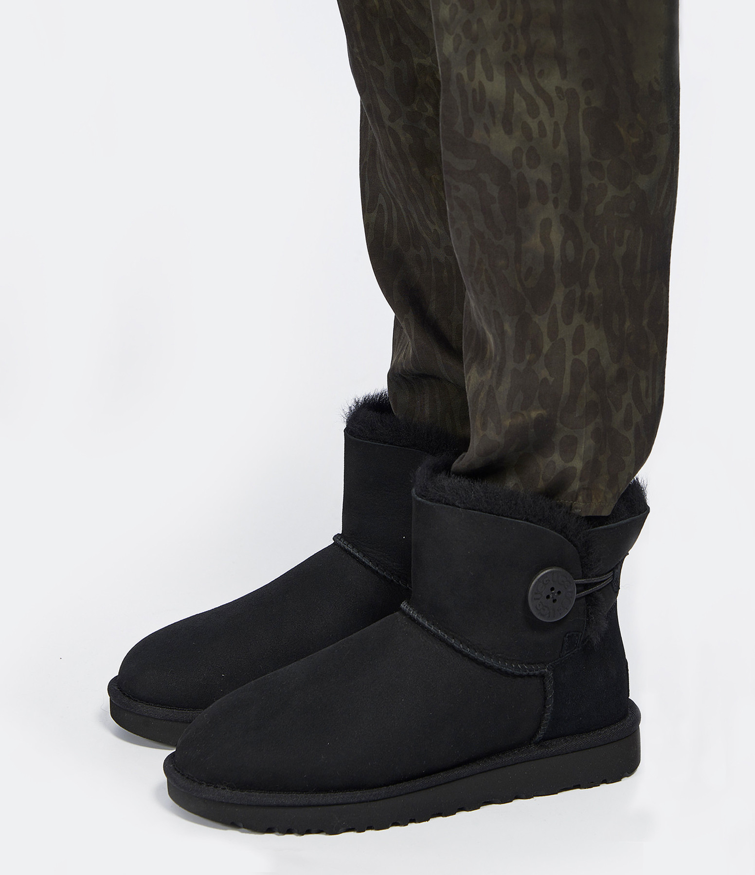 UGG - Boots Mini Bailey Button II Noir