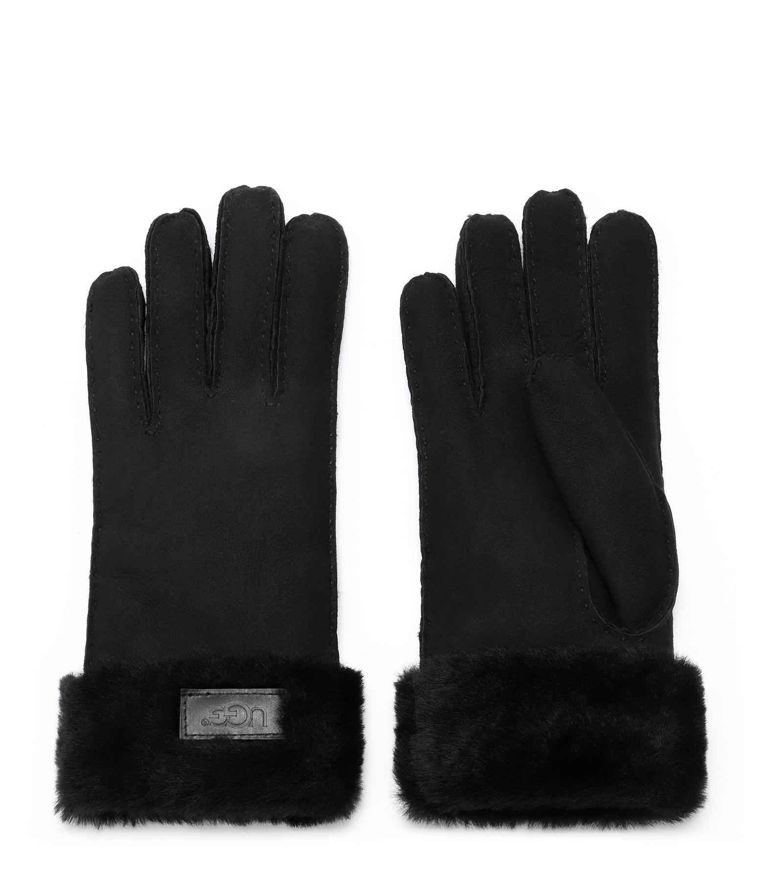 UGG - Gants Cuir Revers Noir