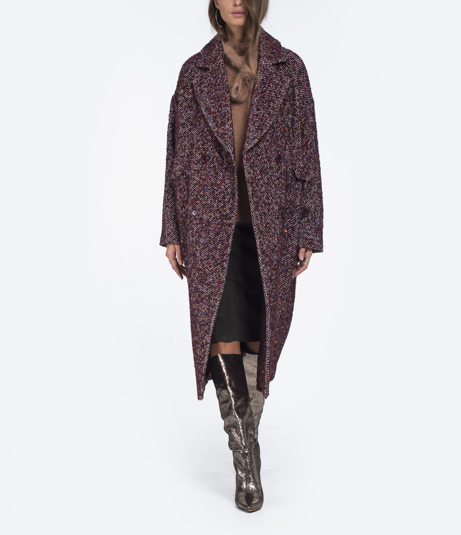 ULLA JOHNSON - Manteau Frances Marron