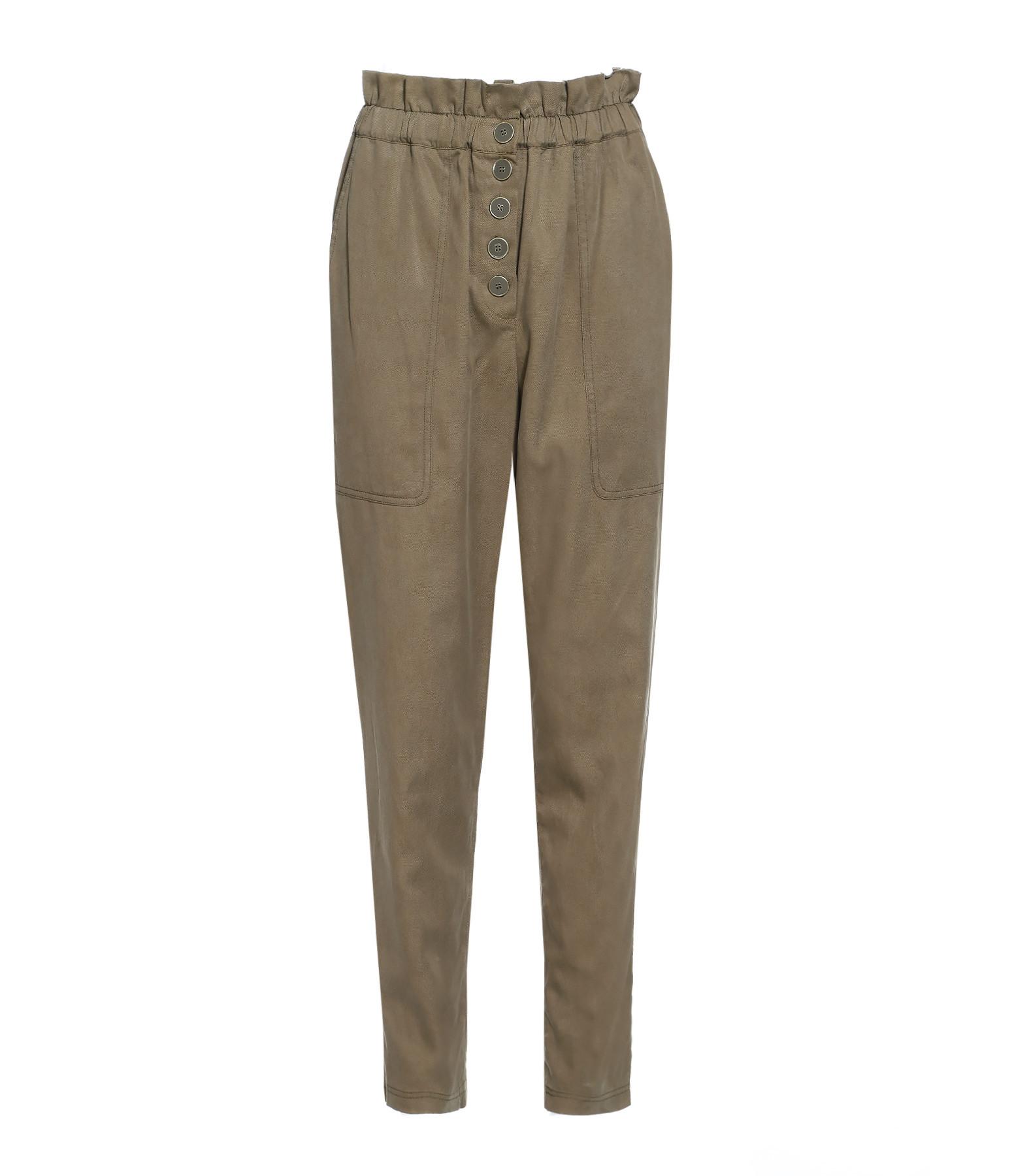 ULLAJOHN - Pantalon Owen Coton Militaire