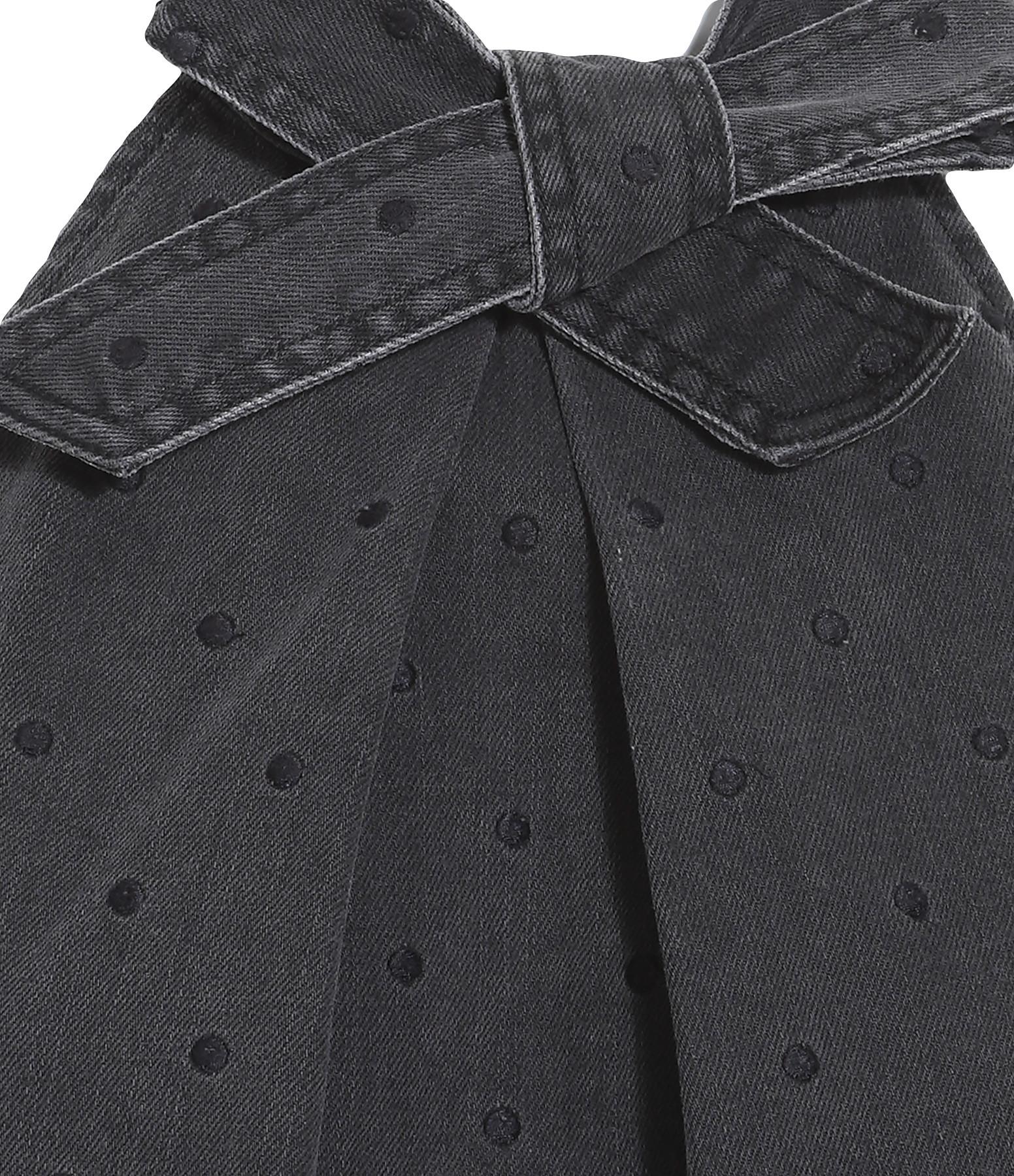 ULLAJOHN - Top Mako Coton Noir