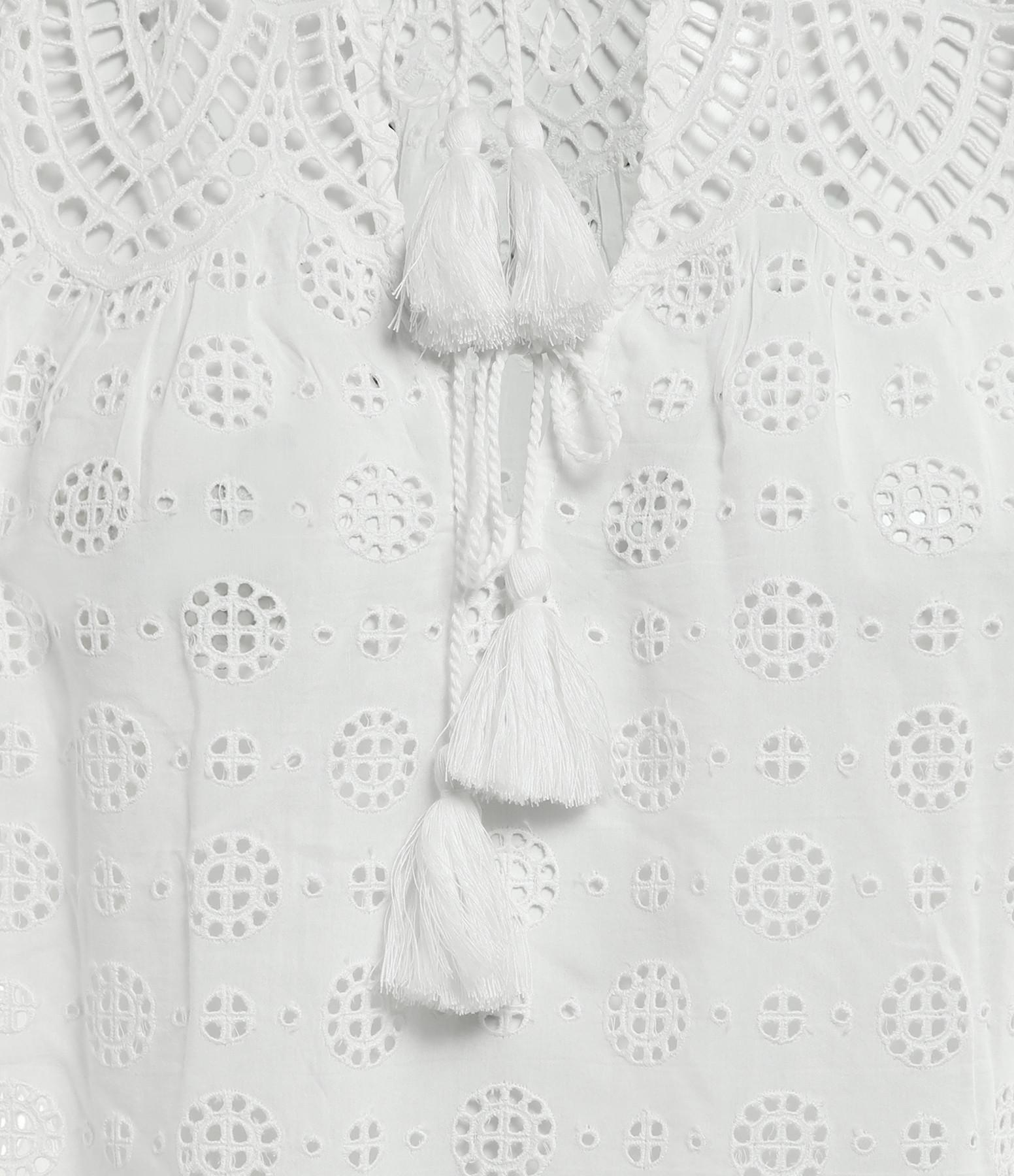 ULLA JOHNSON - Top Calliope Bleu Pristine