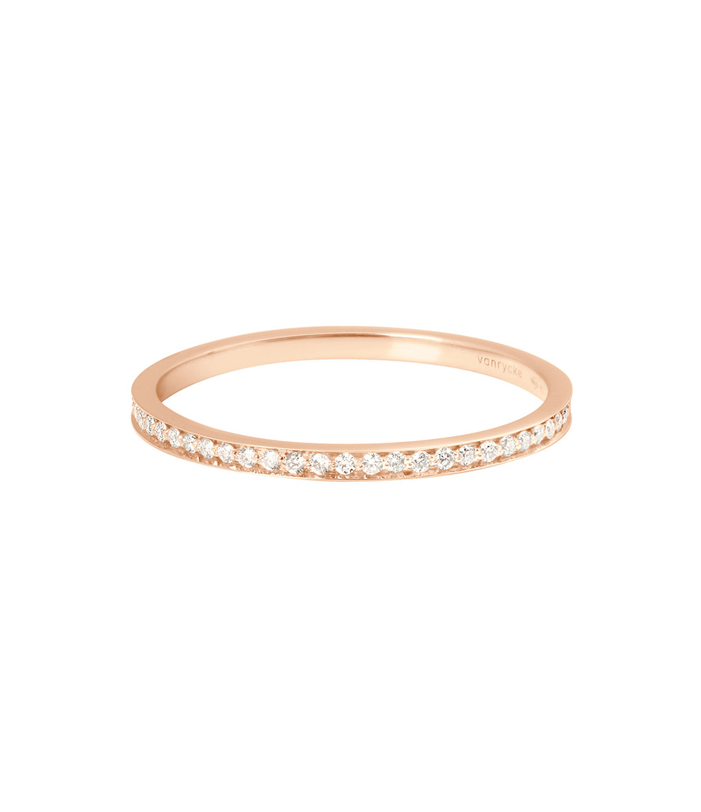 VANRYCKE - Bague Officiel Or Rose Diamants