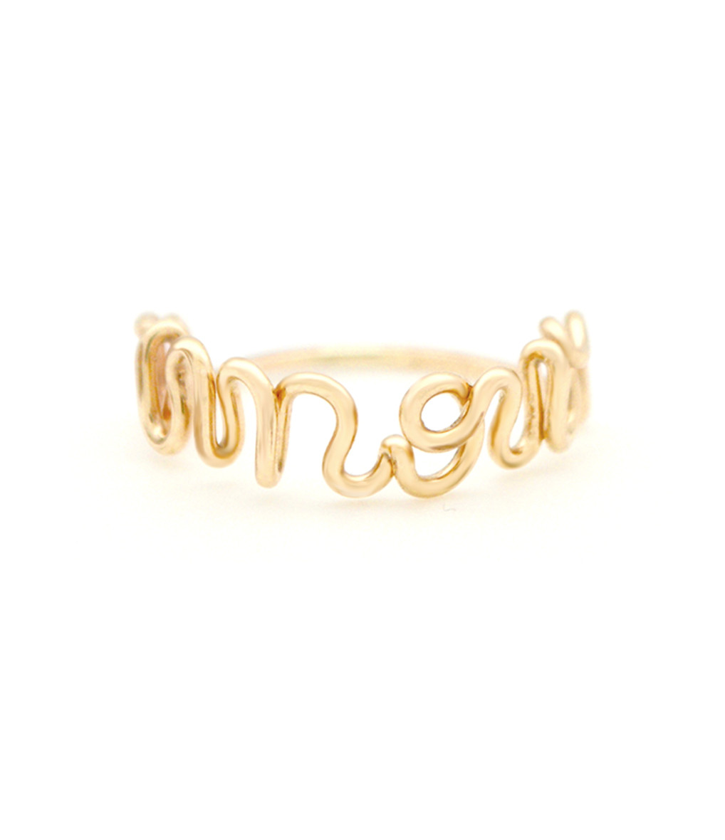 ATELIER PAULIN - Bague Amour Gold Filled 14K