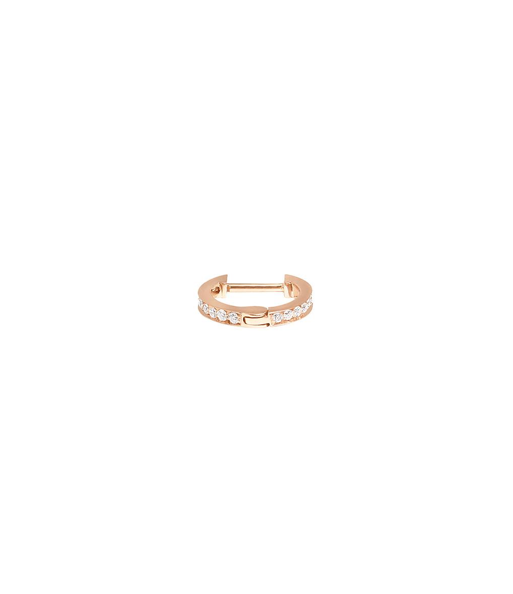 VANRYCKE - Créole Officiel XS Or Rose Diamants (vendue à l'unité)