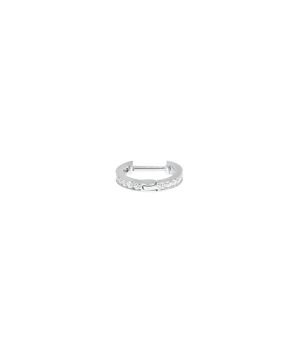 VANRYCKE - Créole Officiel XS Or Blanc Diamants (vendue à l'unité)