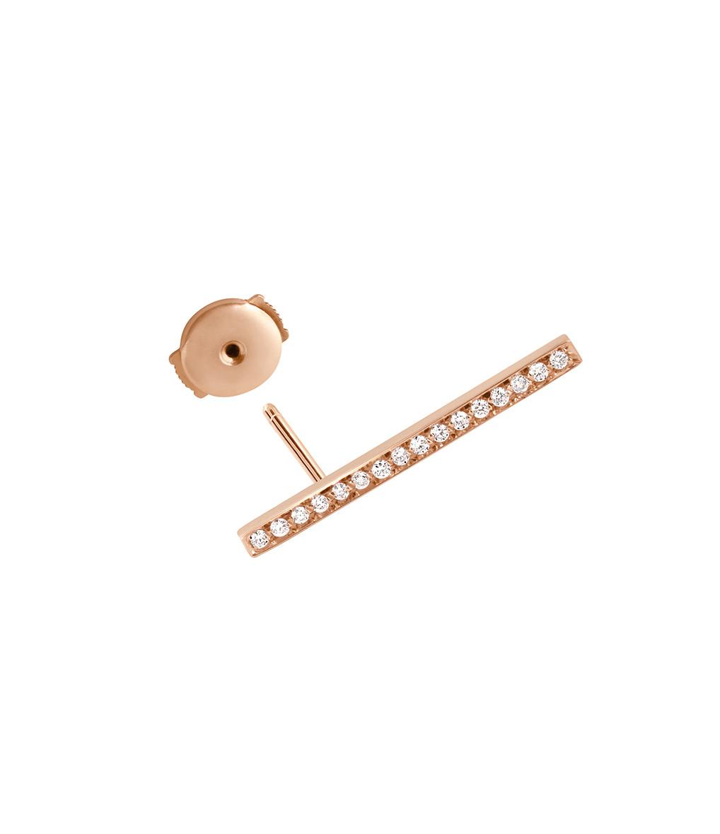 VANRYCKE - Boucle d'oreille Medellin GM Or Rose Diamants (vendue à l'unité)