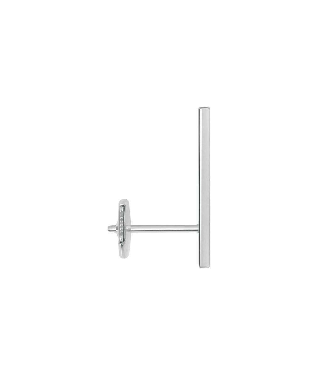 VANRYCKE - Boucle d'oreille Medellin GM Or Blanc Diamants (vendue à l'unité)