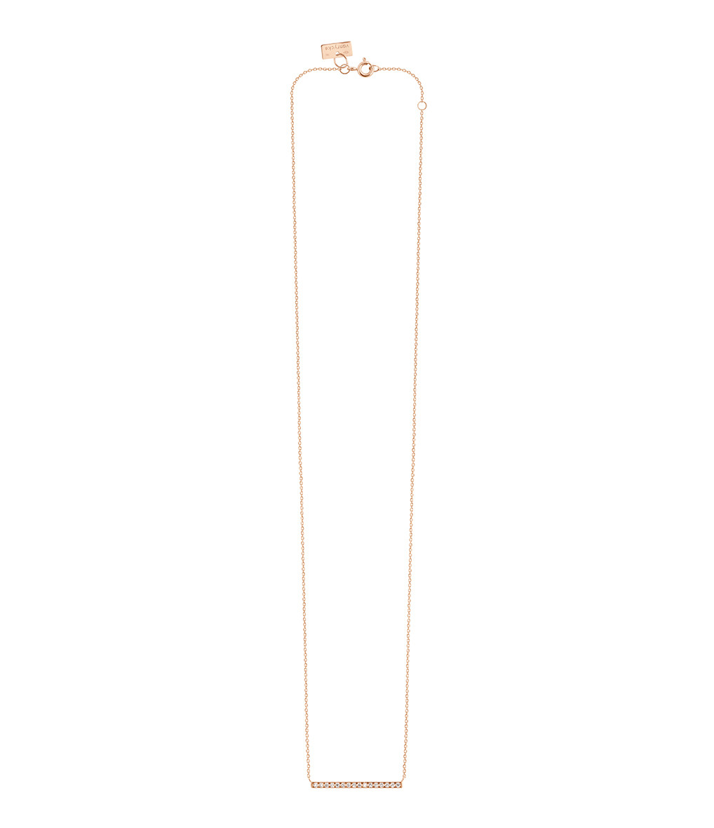VANRYCKE - Collier Medellin GM Or Rose Diamants