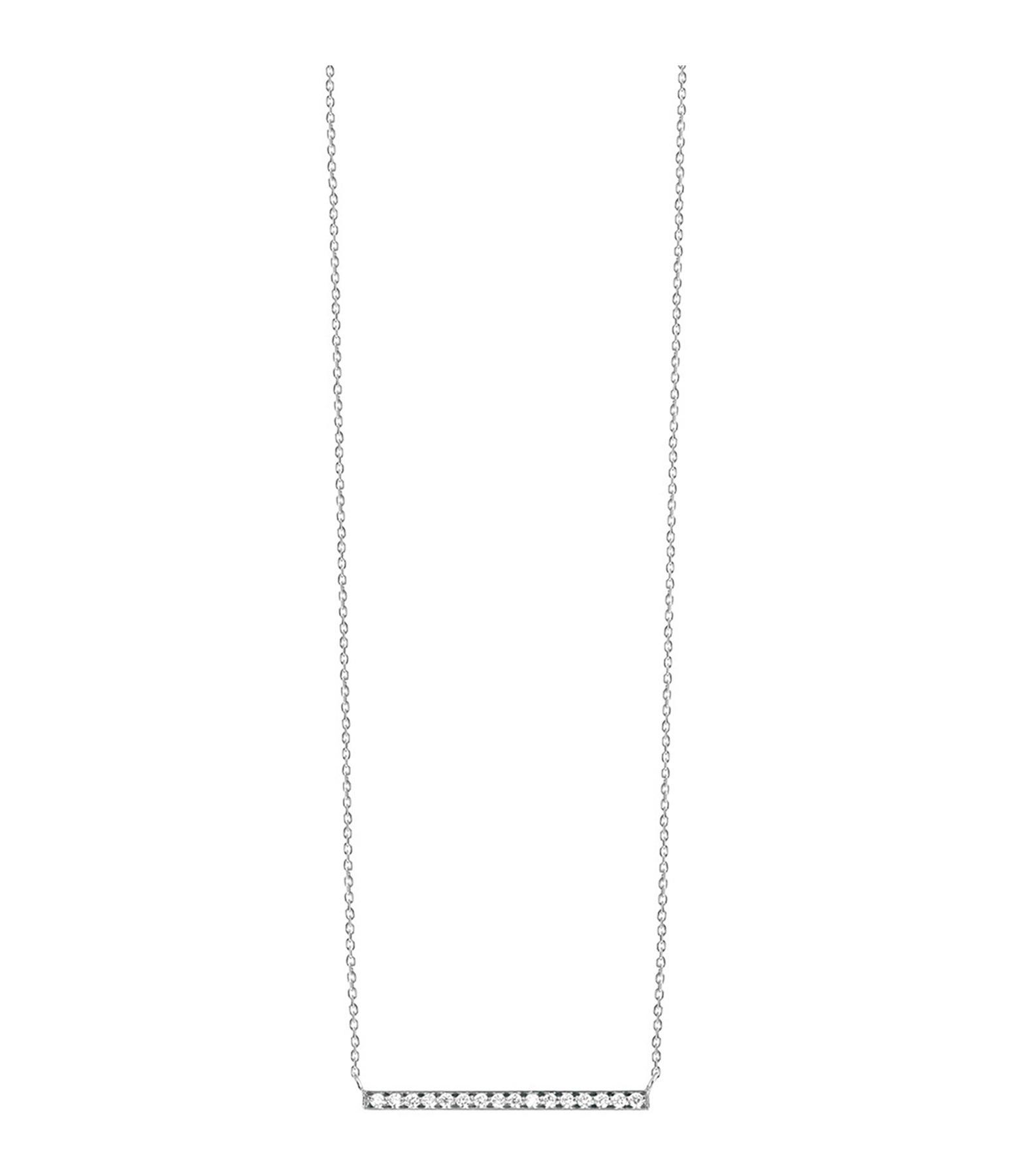VANRYCKE - Collier Medellin GM Or Blanc Diamants