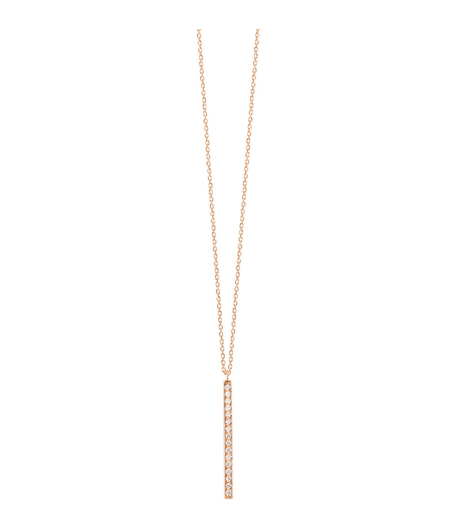 VANRYCKE - Collier Medellin Or Rose Diamants