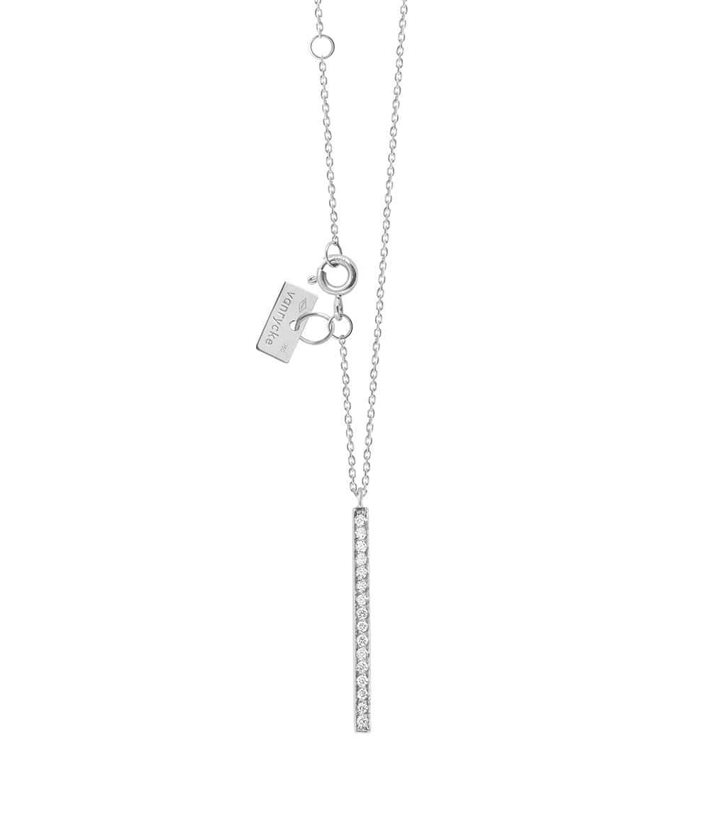 VANRYCKE - Collier Medellin Or Blanc Diamants