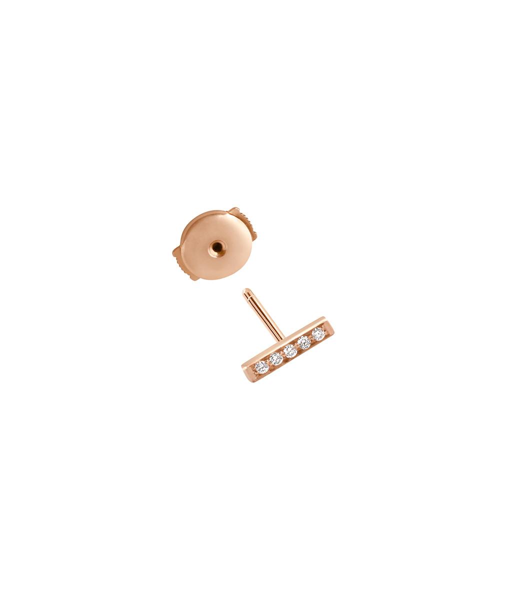 VANRYCKE - Boucle d'oreille Medellin PM Or Rose Diamants (vendue à l'unité)