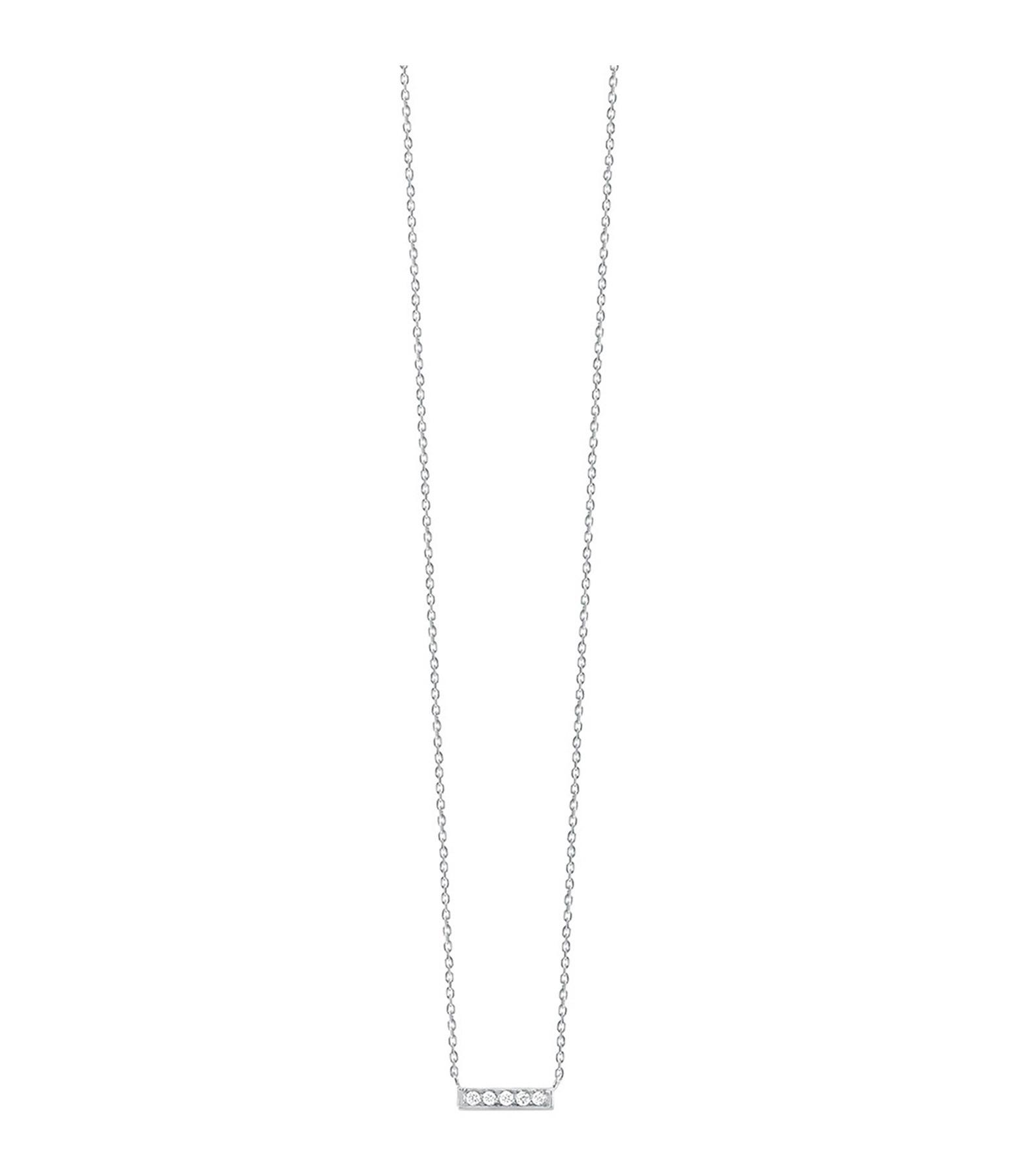 VANRYCKE - Collier Medellin PM Or Blanc Diamants