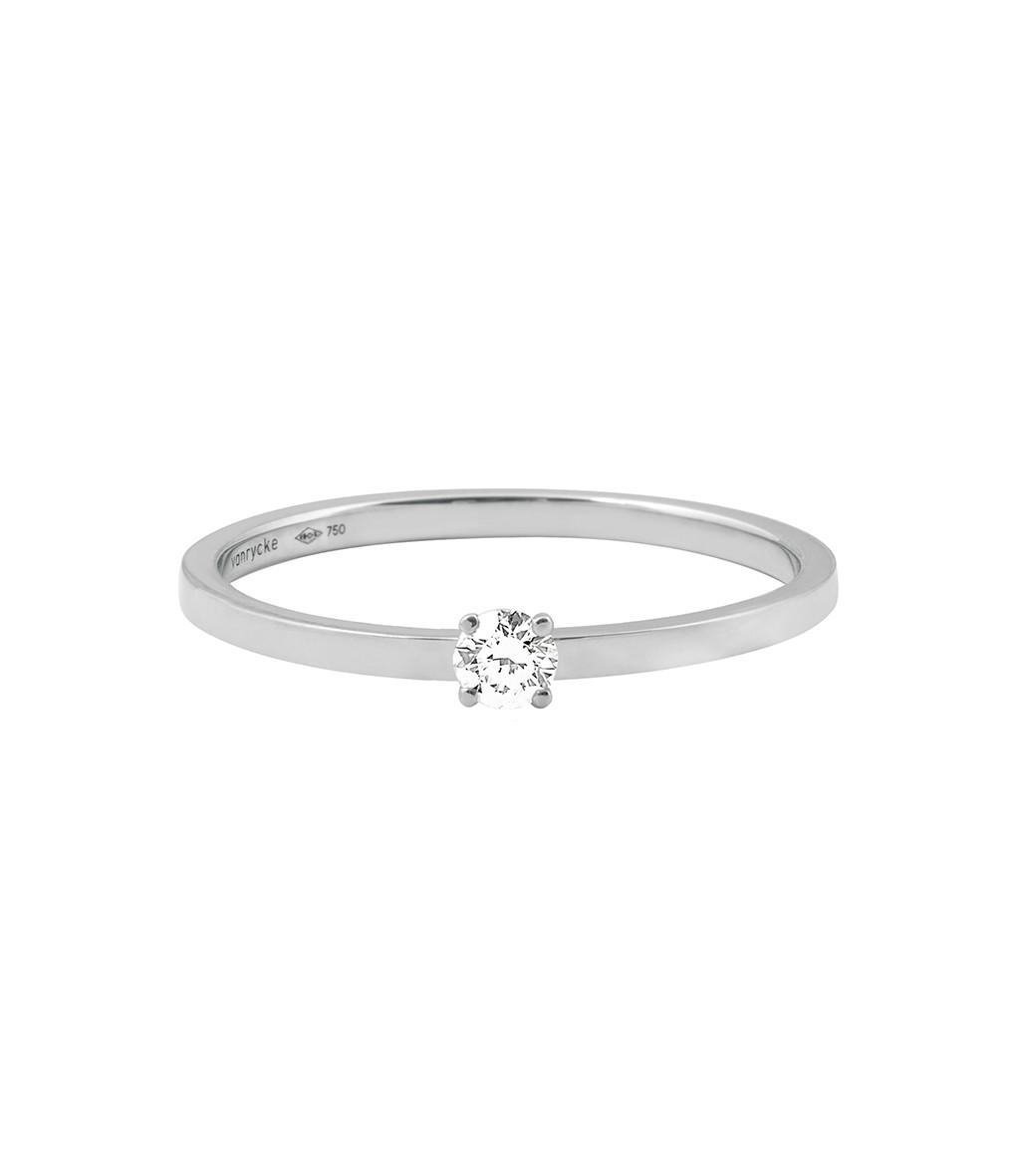 VANRYCKE - Bague Valentine Or Blanc Diamant