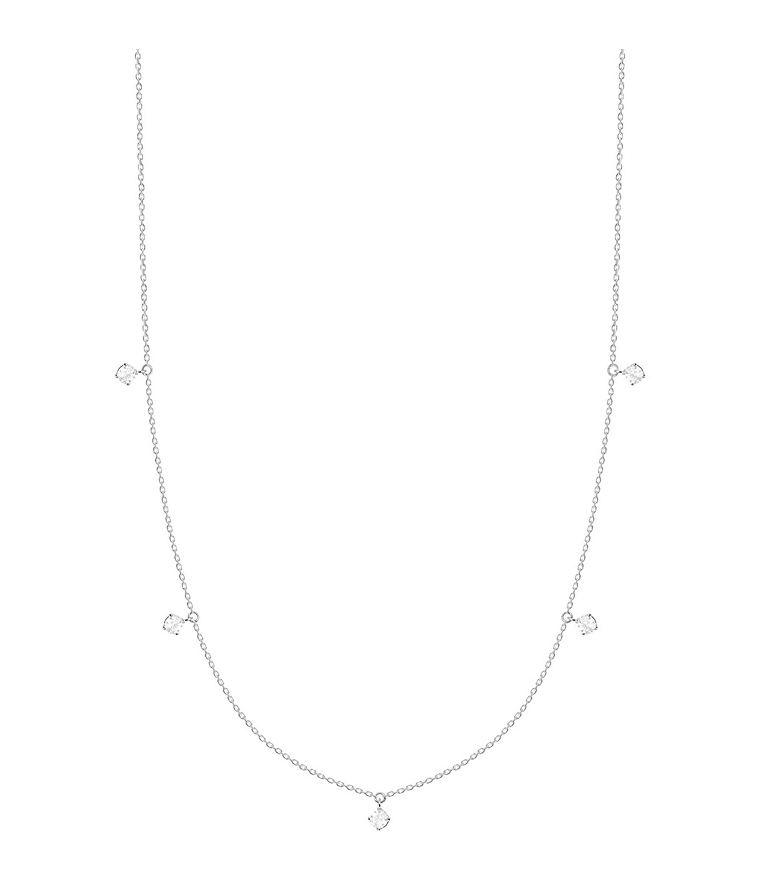 VANRYCKE - Collier Stardust Or Blanc 5 Diamants
