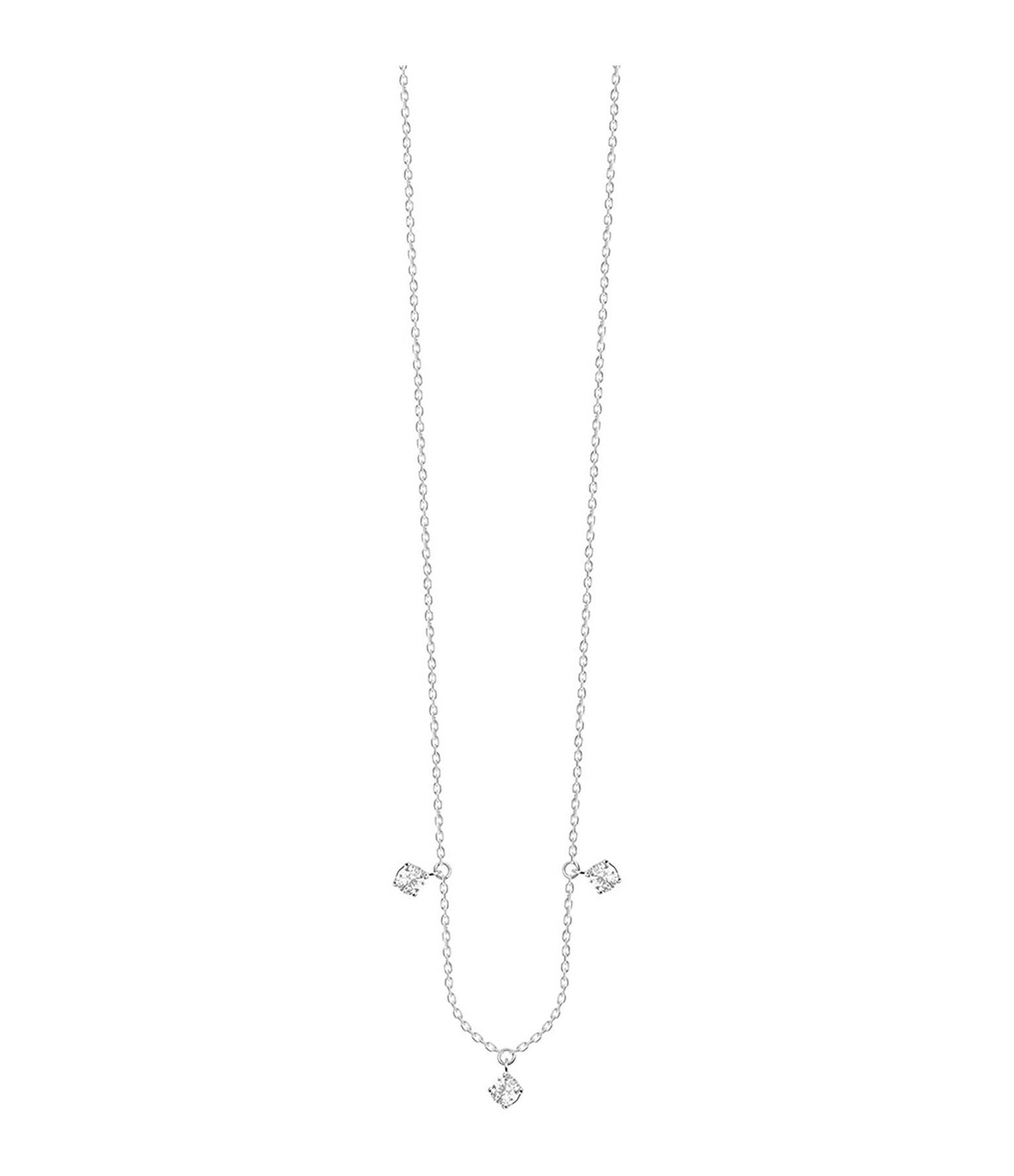 VANRYCKE - Collier Stardust Or Blanc 3 Diamant