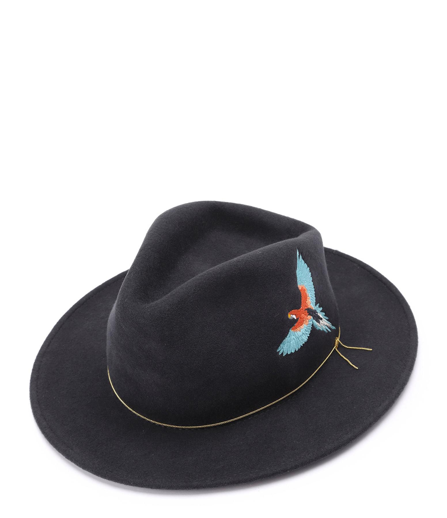 VAN PALMA - Chapeau The Dakota Laine Gris Turquoise