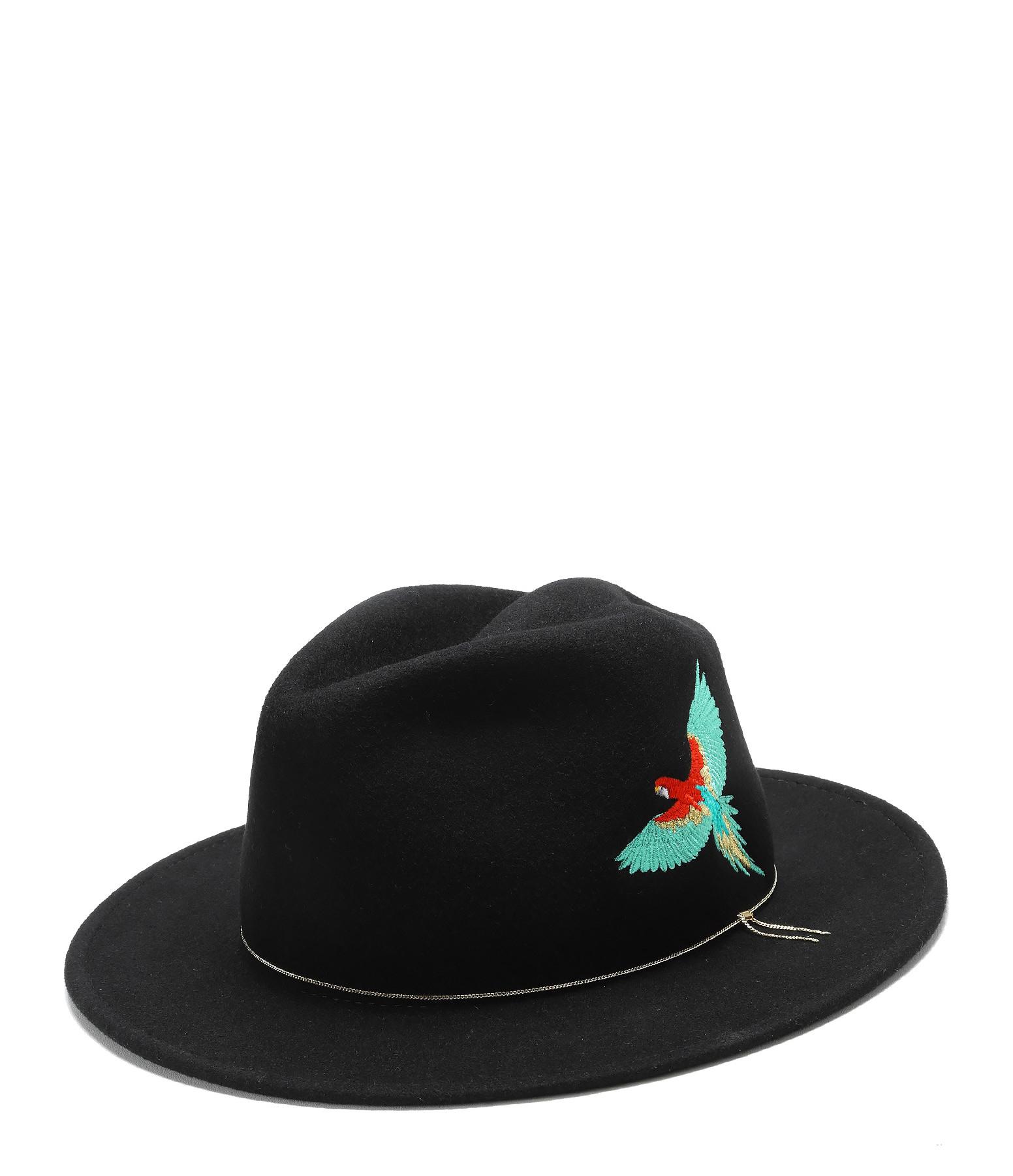 VAN PALMA - Chapeau Le Dakota Laine Noir Spice