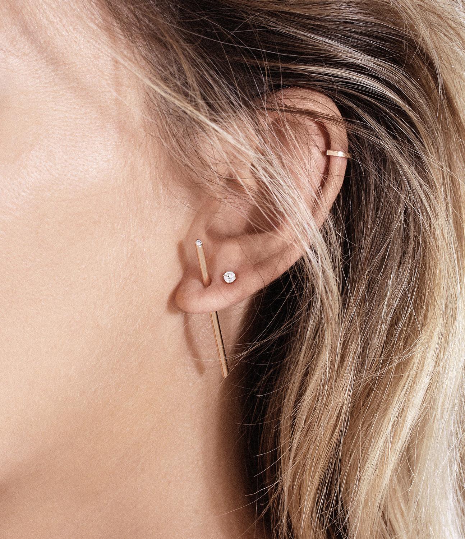 VANRYCKE - Boucle d'oreille Massaï Or Rose Diamants (vendue à l'unité)