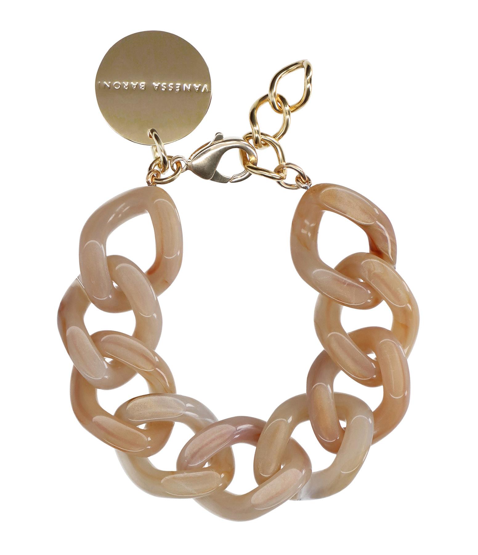 VANESSA BARONI - Bracelet Flat Beige Marble