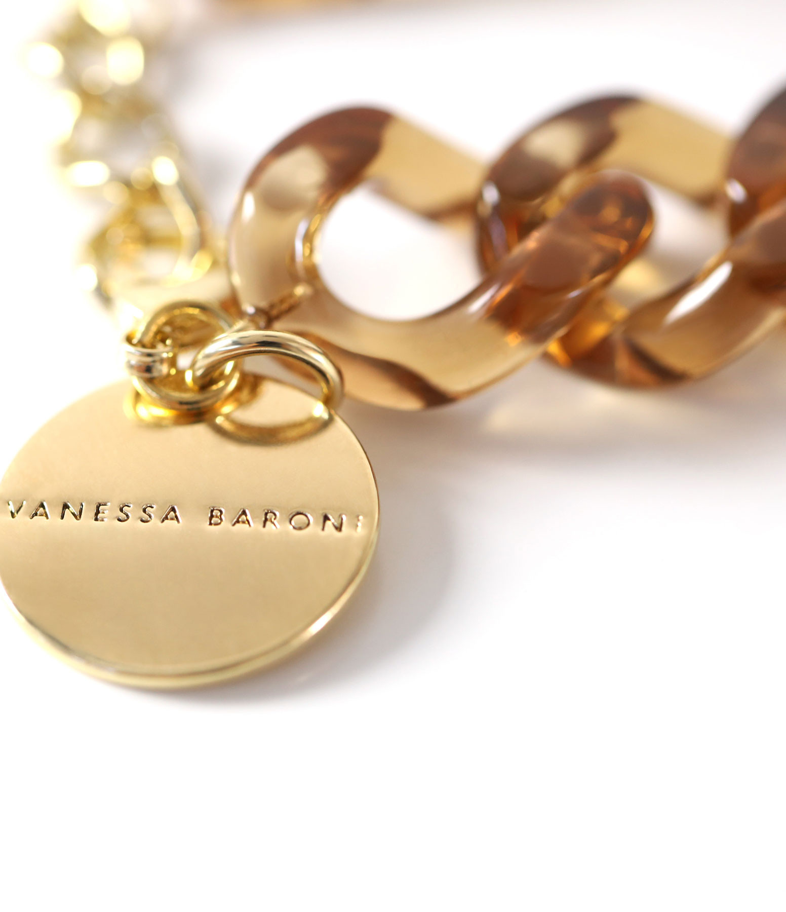 VANESSA BARONI - Bracelet Flat Clear Brown