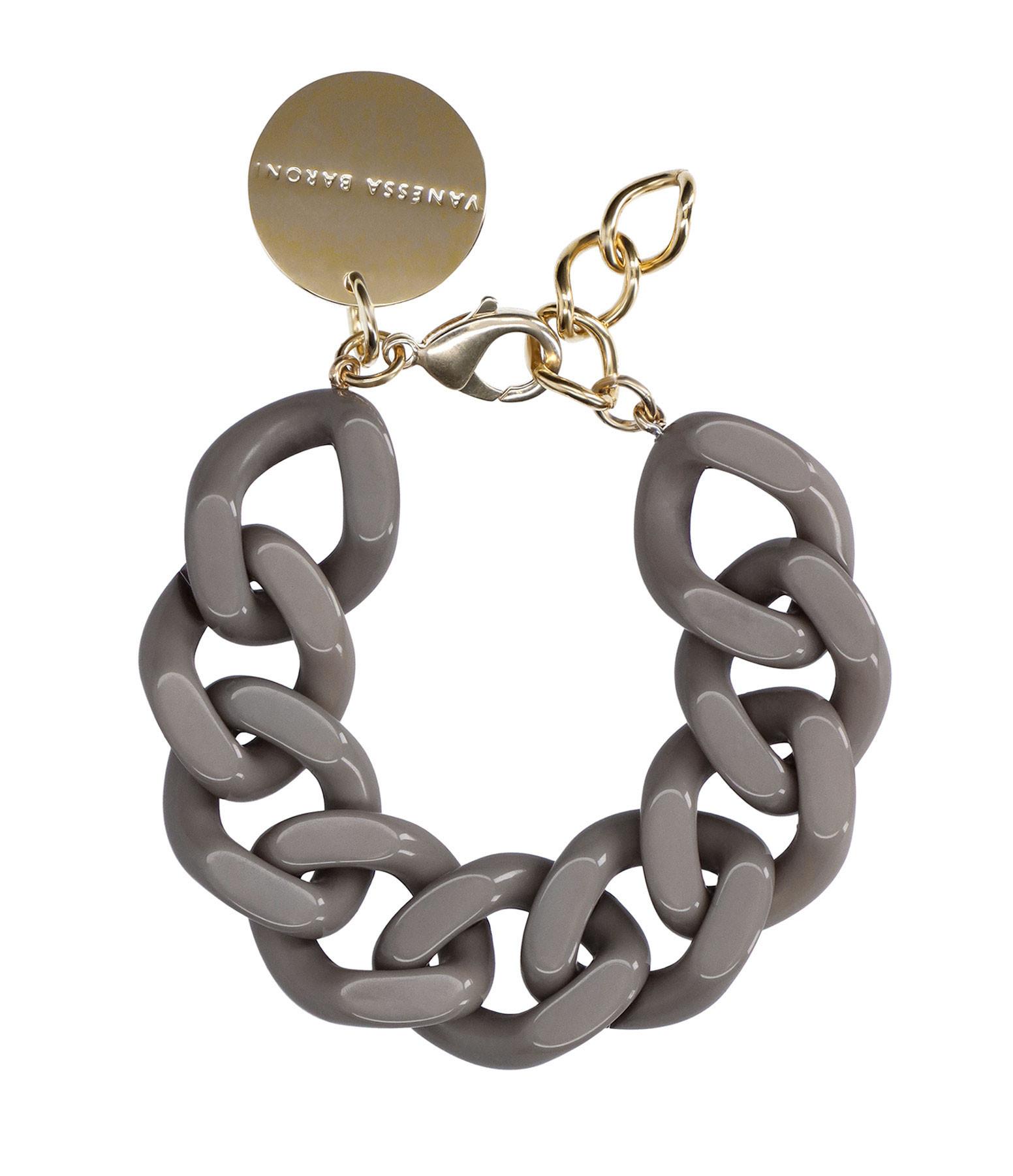 VANESSA BARONI - Bracelet Flat Taupe