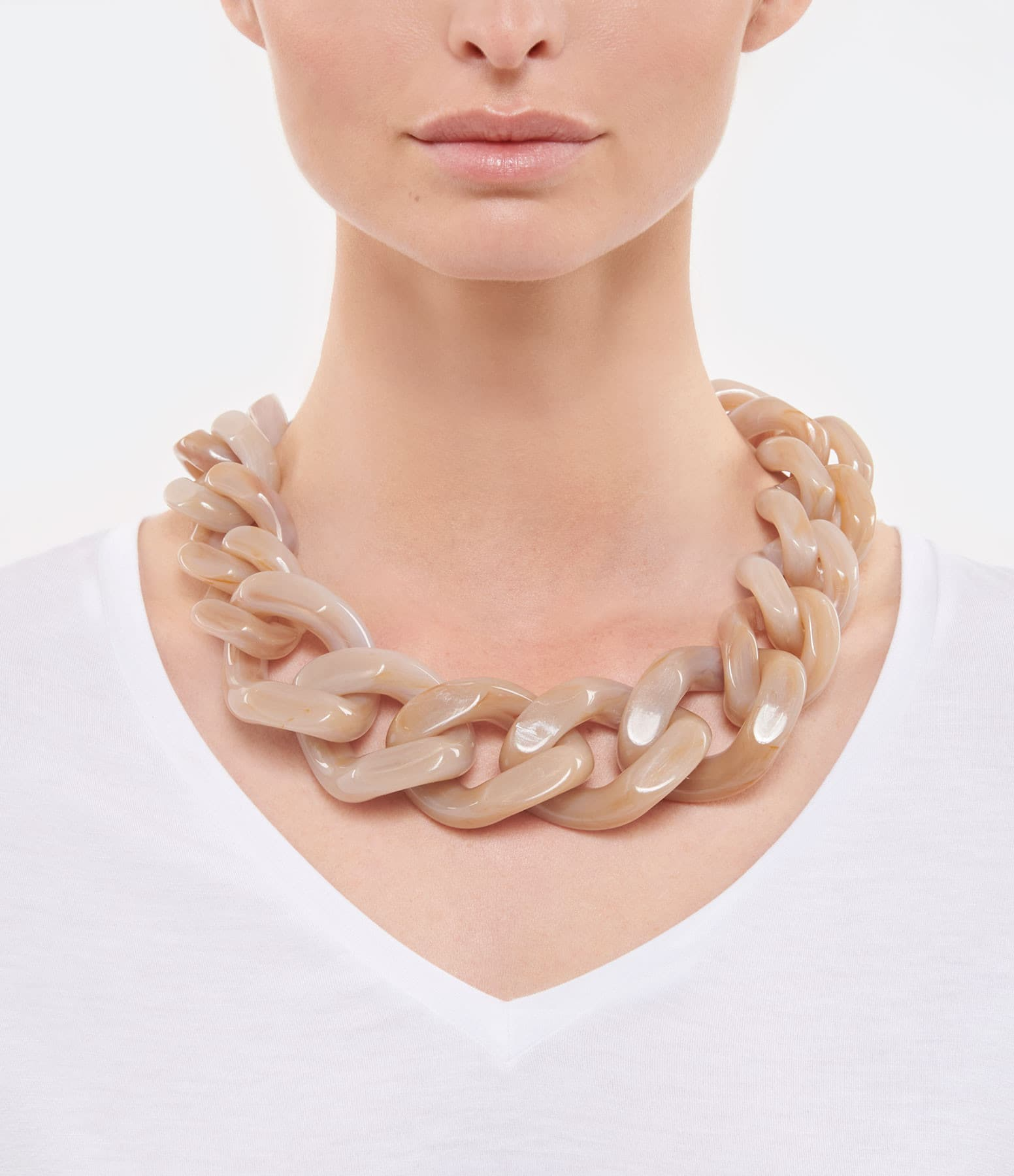 VANESSA BARONI - Collier Great Beige Marble
