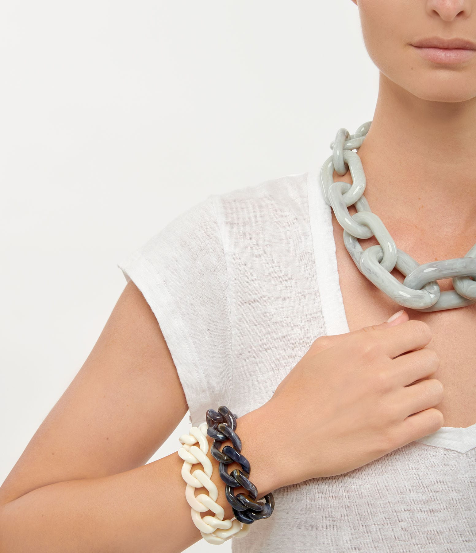 VANESSA BARONI - Bracelet Flat Off White