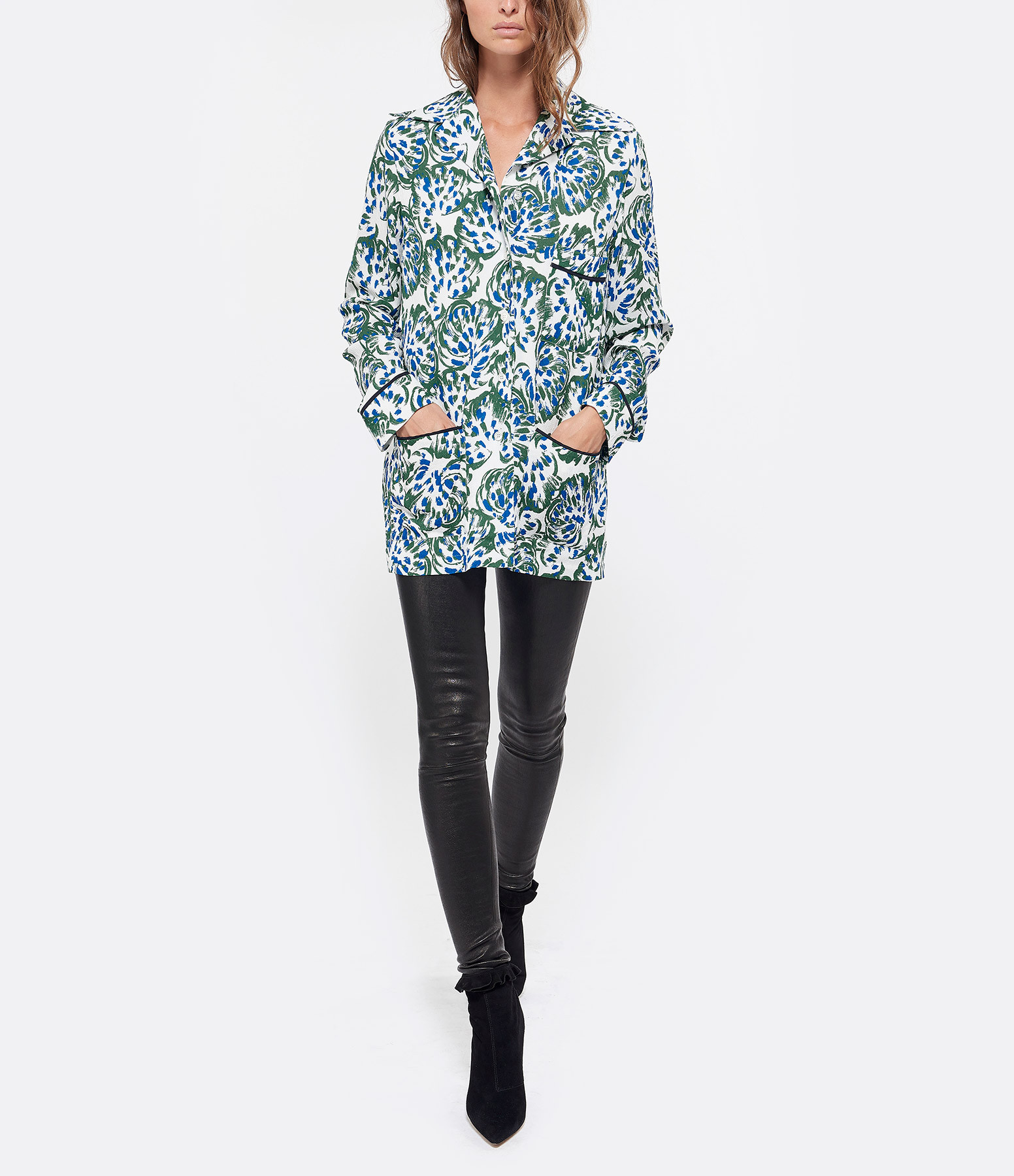 VICTORIA VICTORIA BECKHAM - Chemise Pyjama Abstract Floral
