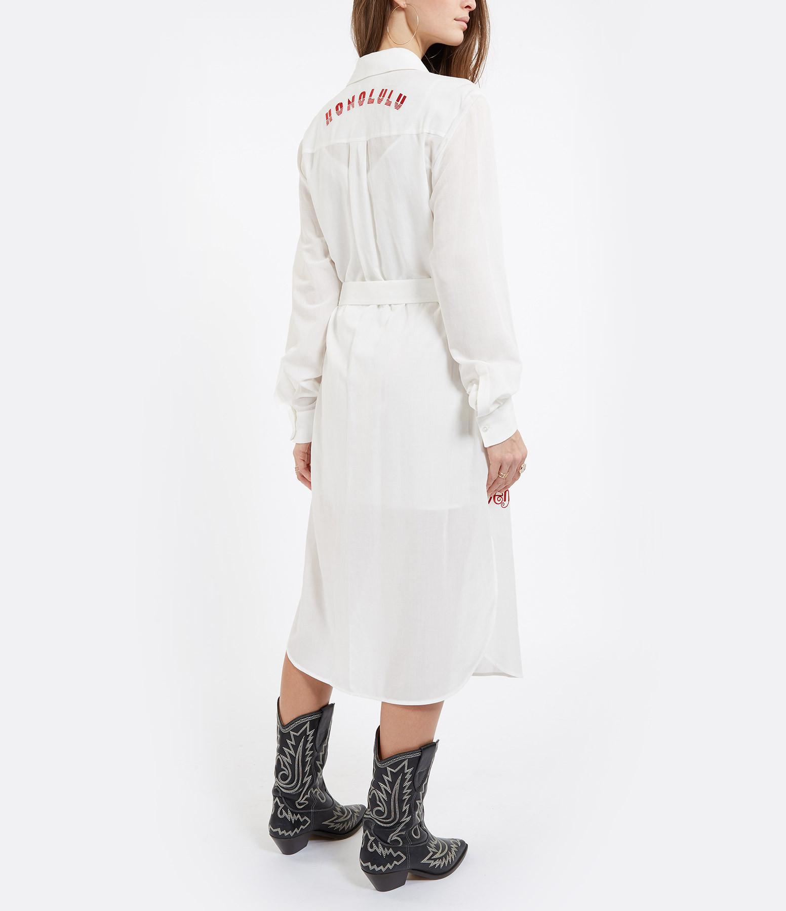 VICTORIA VICTORIA BECKHAM - Robe Chemise Broderie Blanc
