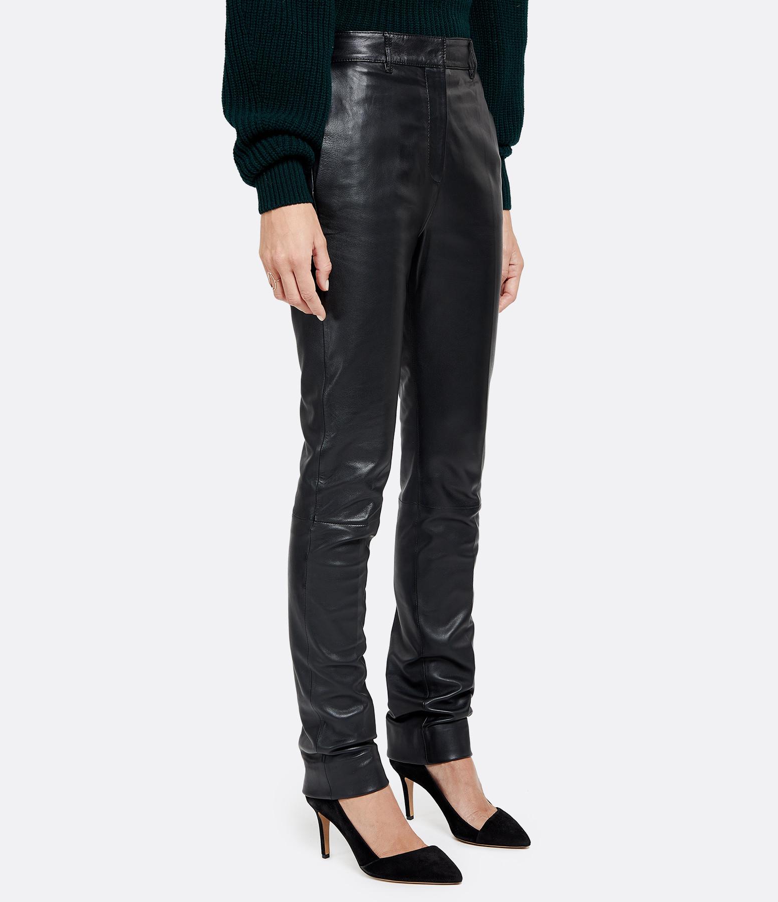 VICTORIA VICTORIA BECKHAM - Pantalon Cuir Noir