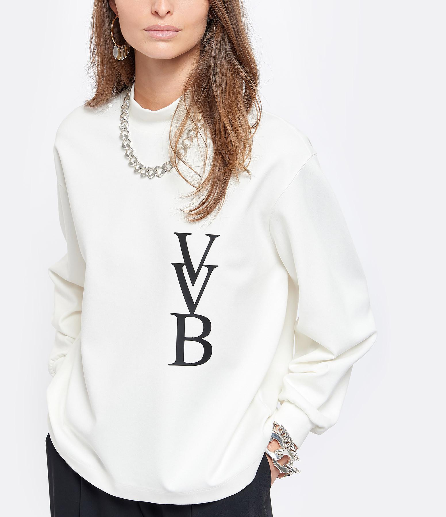 VICTORIA VICTORIA BECKHAM - Sweatshirt 3D Logo Ivoire