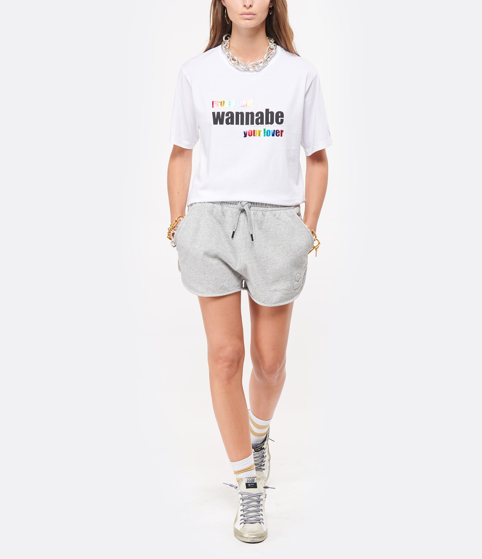 VICTORIA VICTORIA BECKHAM - Tee-shirt Wannabe Blanc, Capsule Spice Girls
