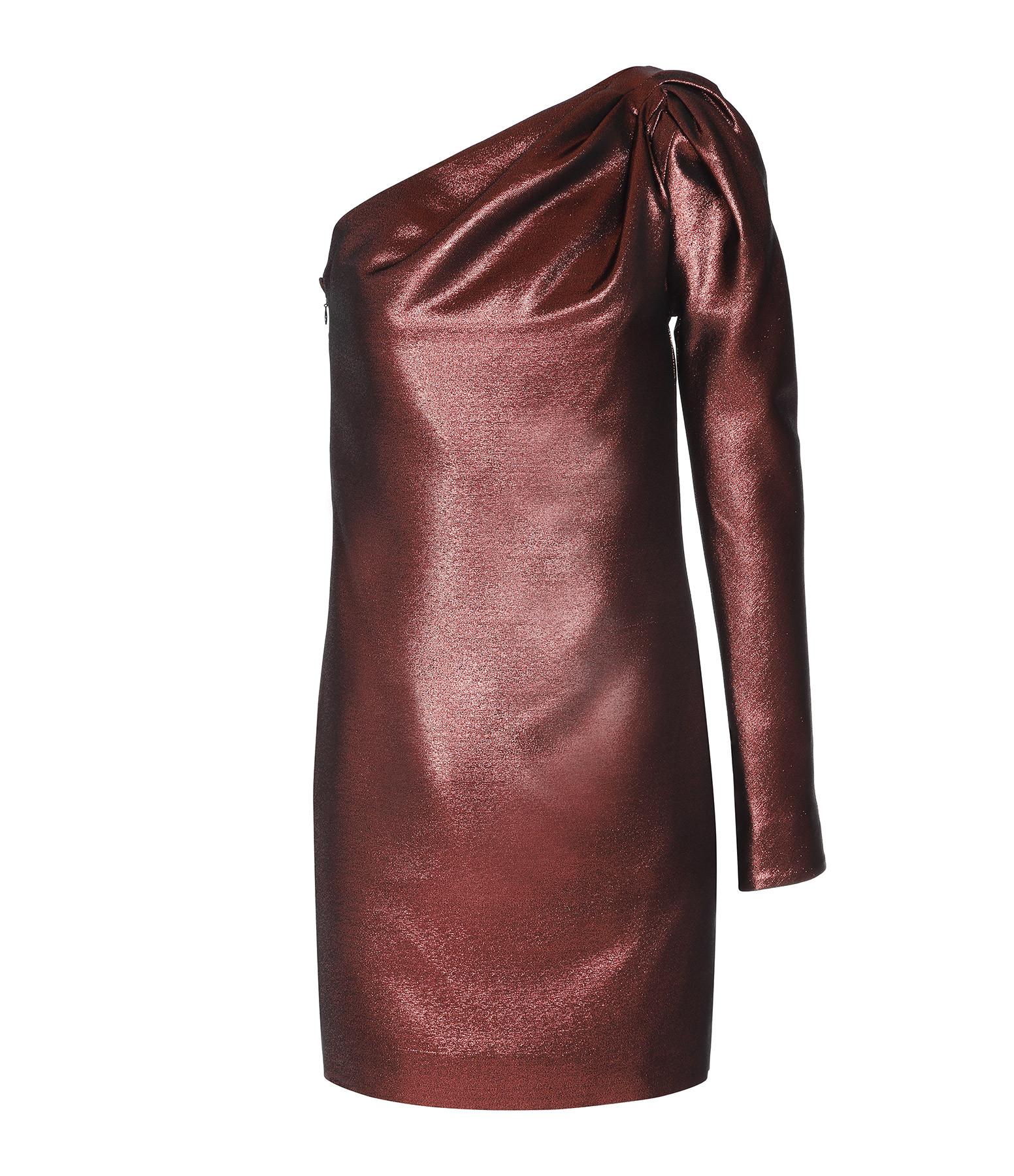 VICTORIA VICTORIA BECKHAM - Robe Epaule Twist Cuivre