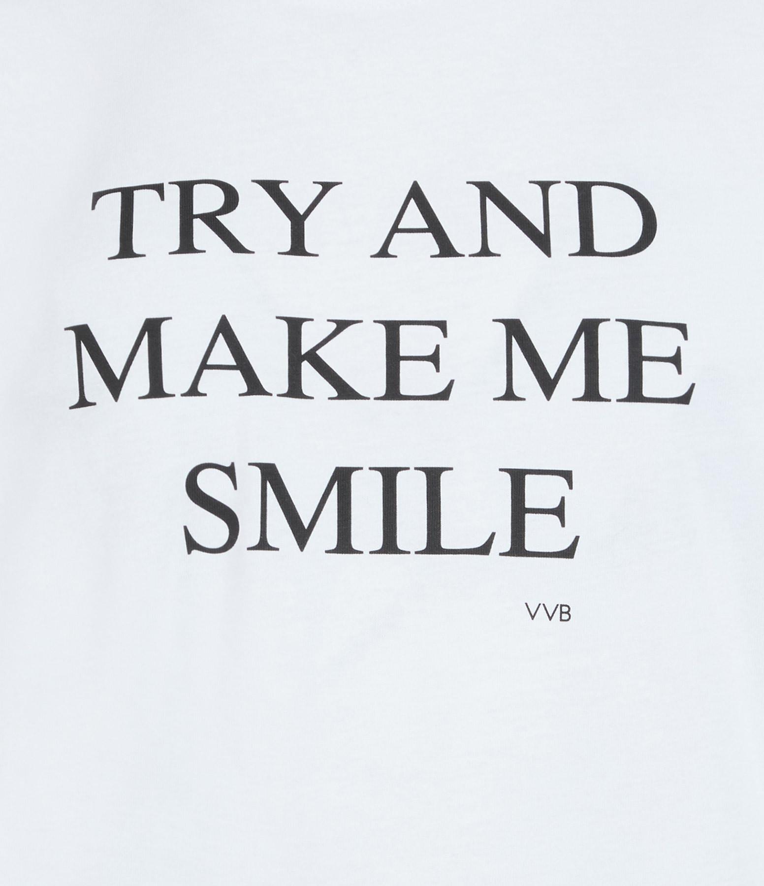 VICTORIA VICTORIA BECKHAM - Tee-shirt Try and Make Me Smile Blanc