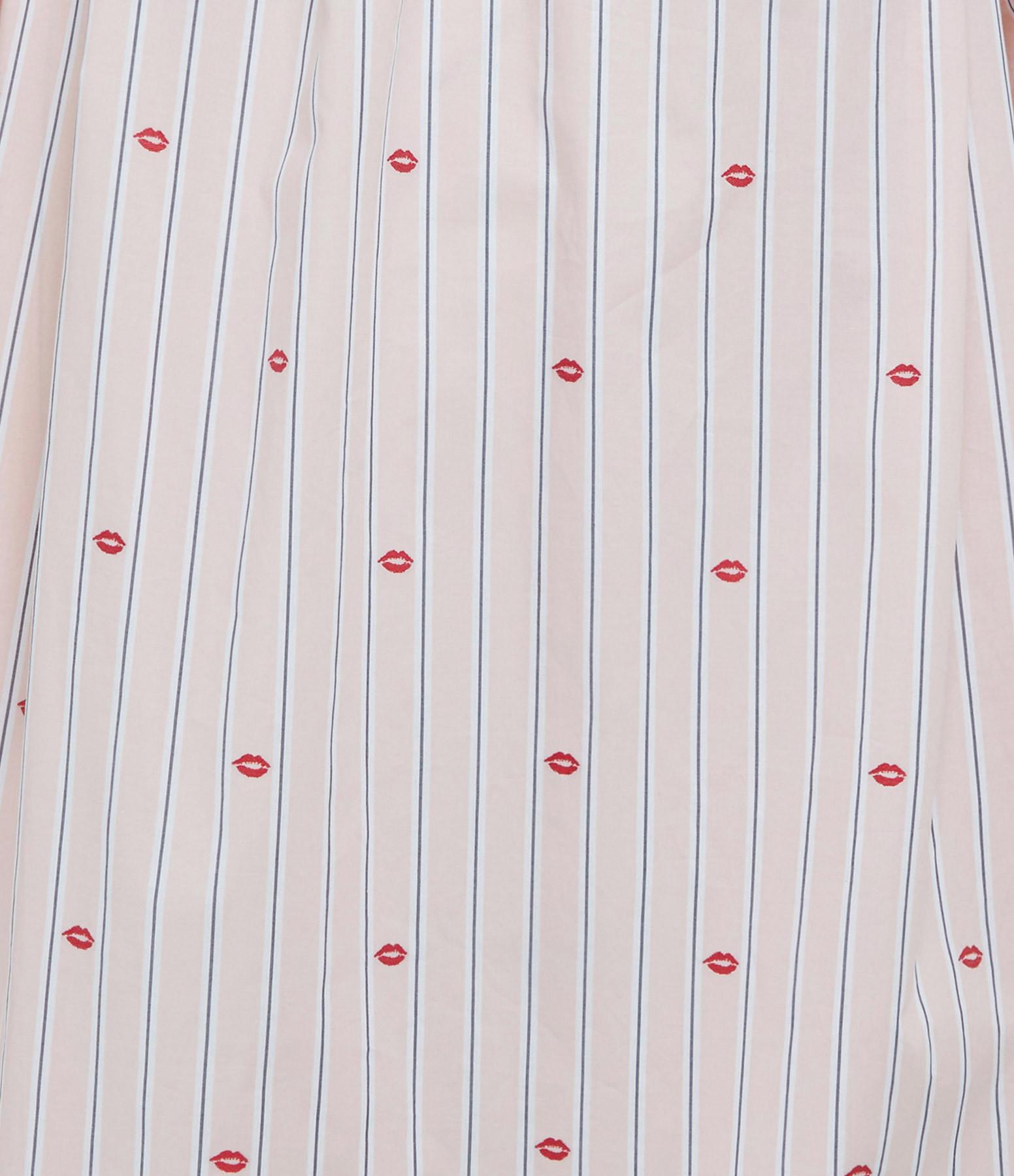 VICTORIA VICTORIA BECKHAM - Robe Lips Jacquard Coton Rose