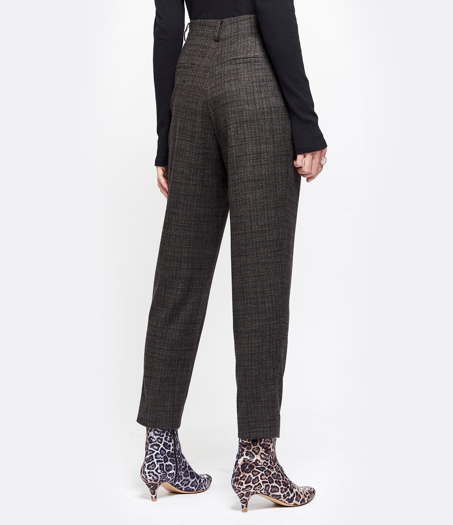 VANESSA BRUNO - Pantalon Malice Laine Ebene