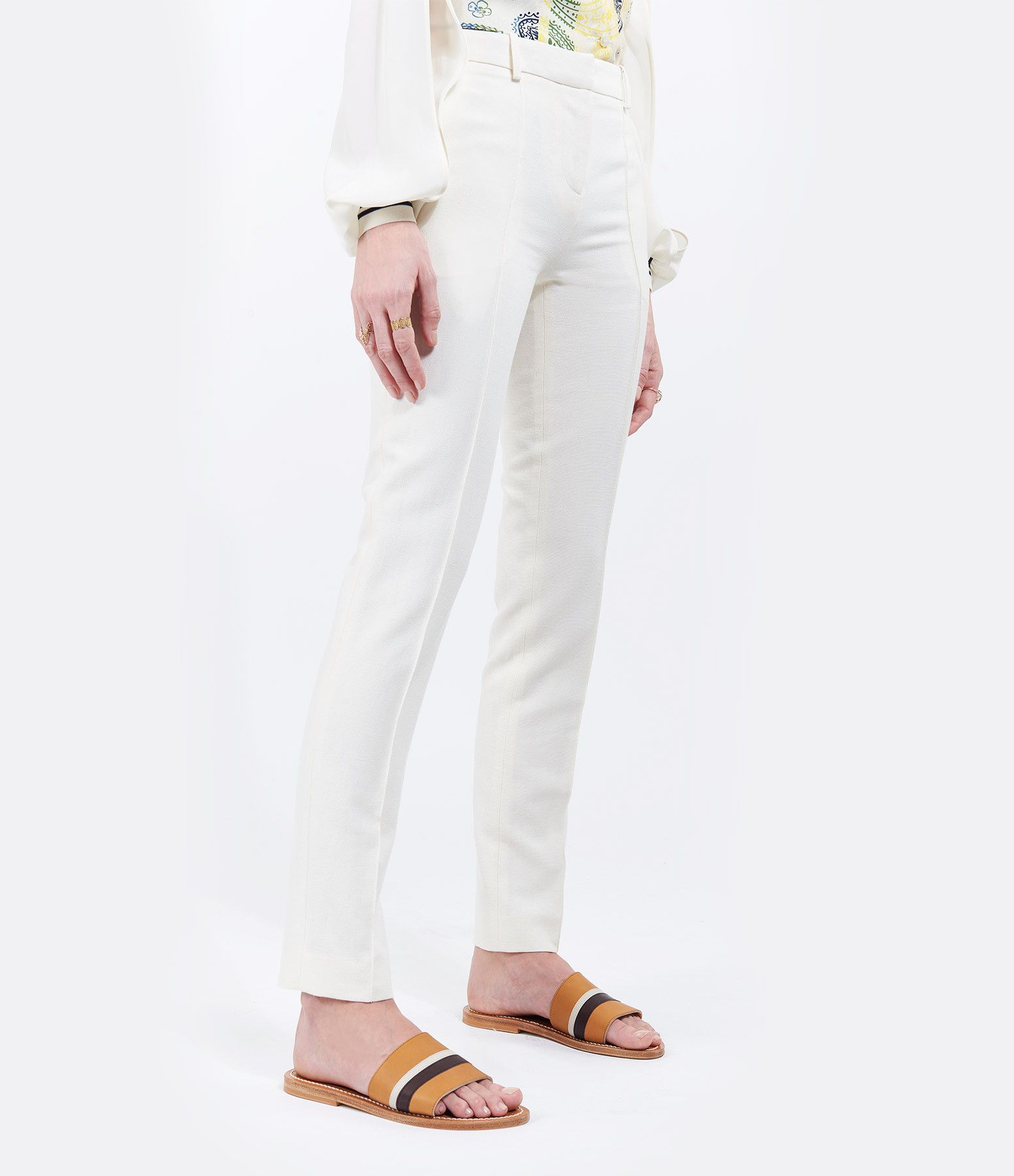 VANESSA BRUNO - Pantalon James Coton Crème