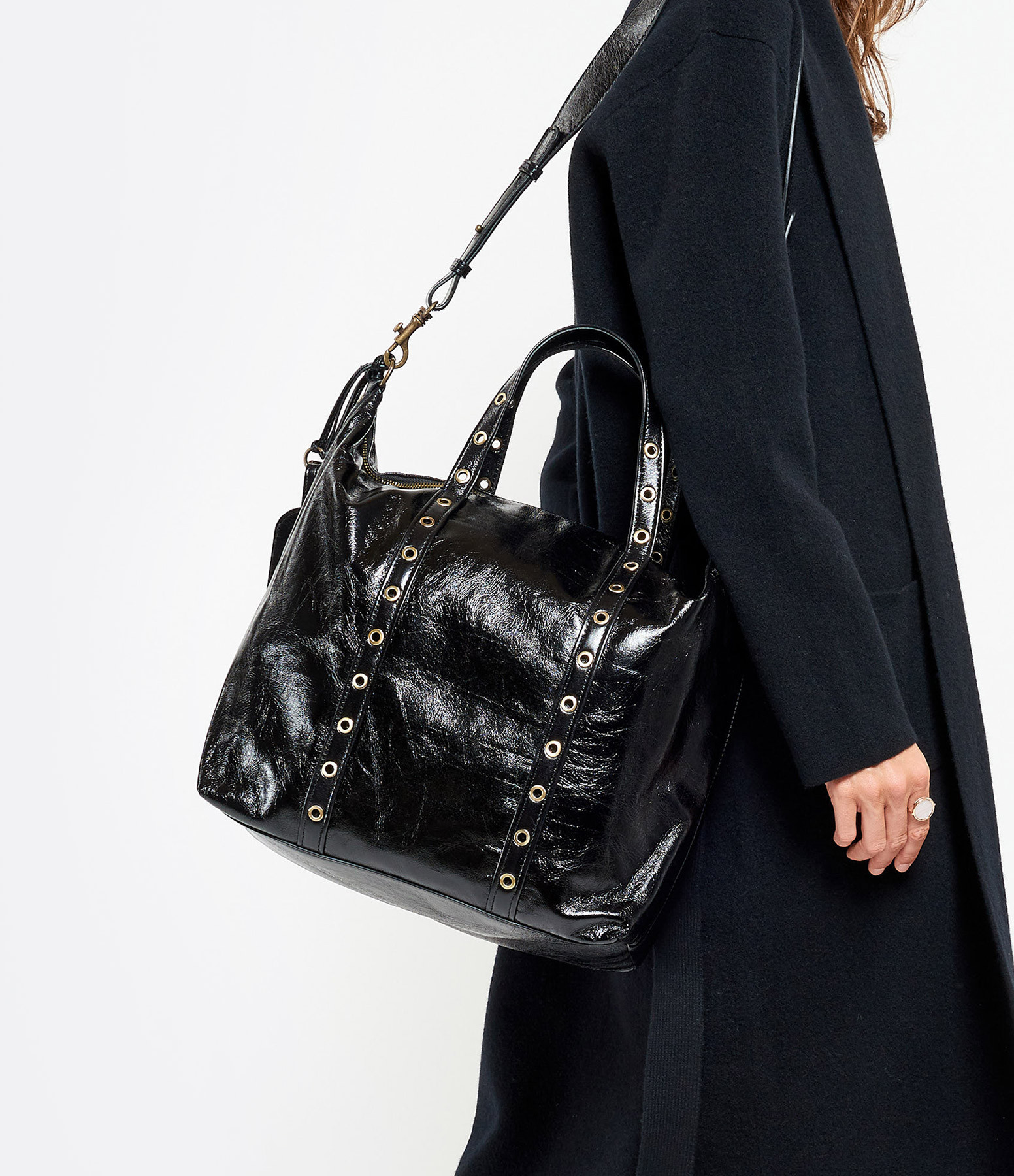 VANESSA BRUNO - Sac Zippy GM Cuir Noir