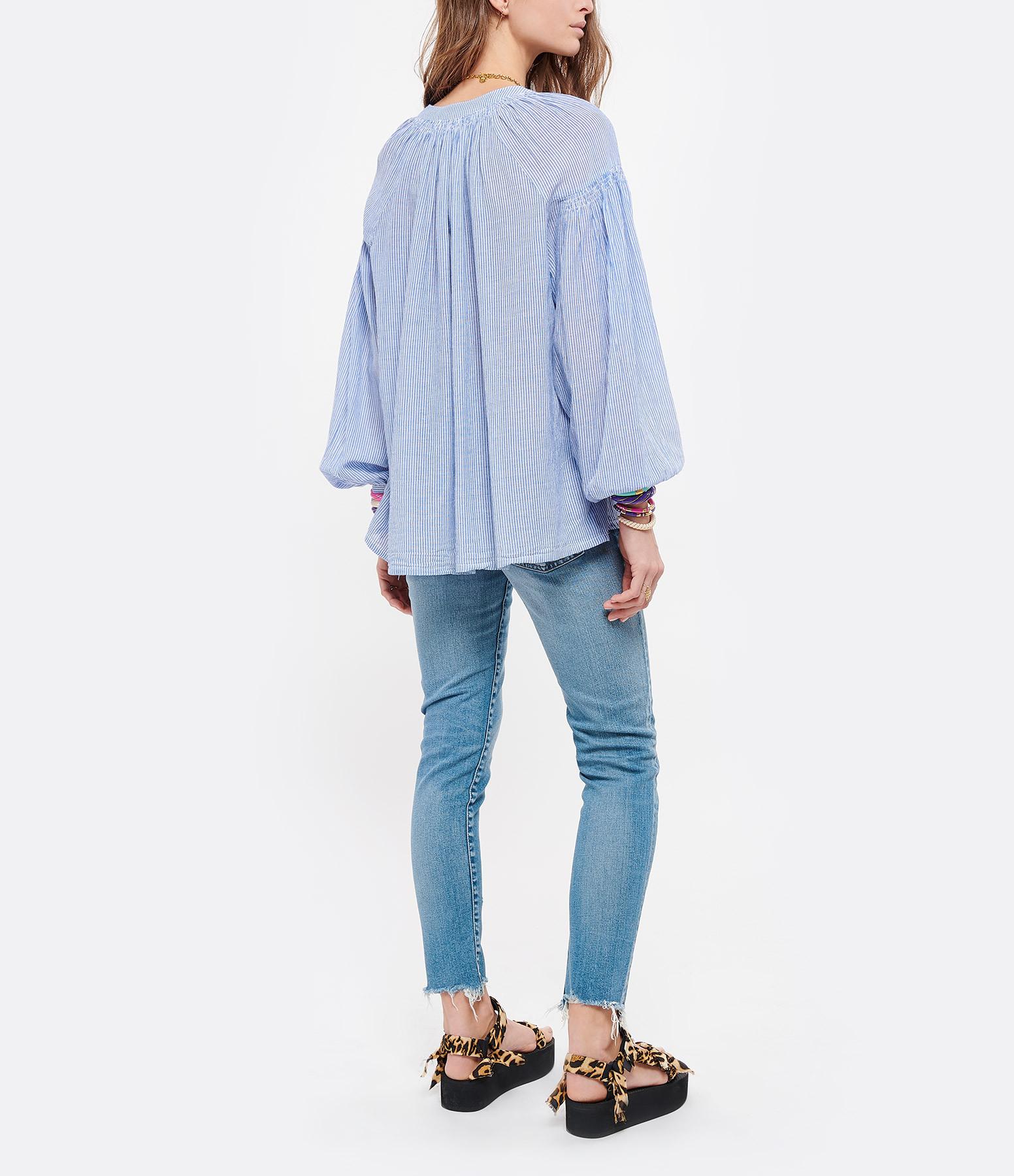 VANESSA BRUNO - Blouse Nipoa Rayures Bleu Blanc