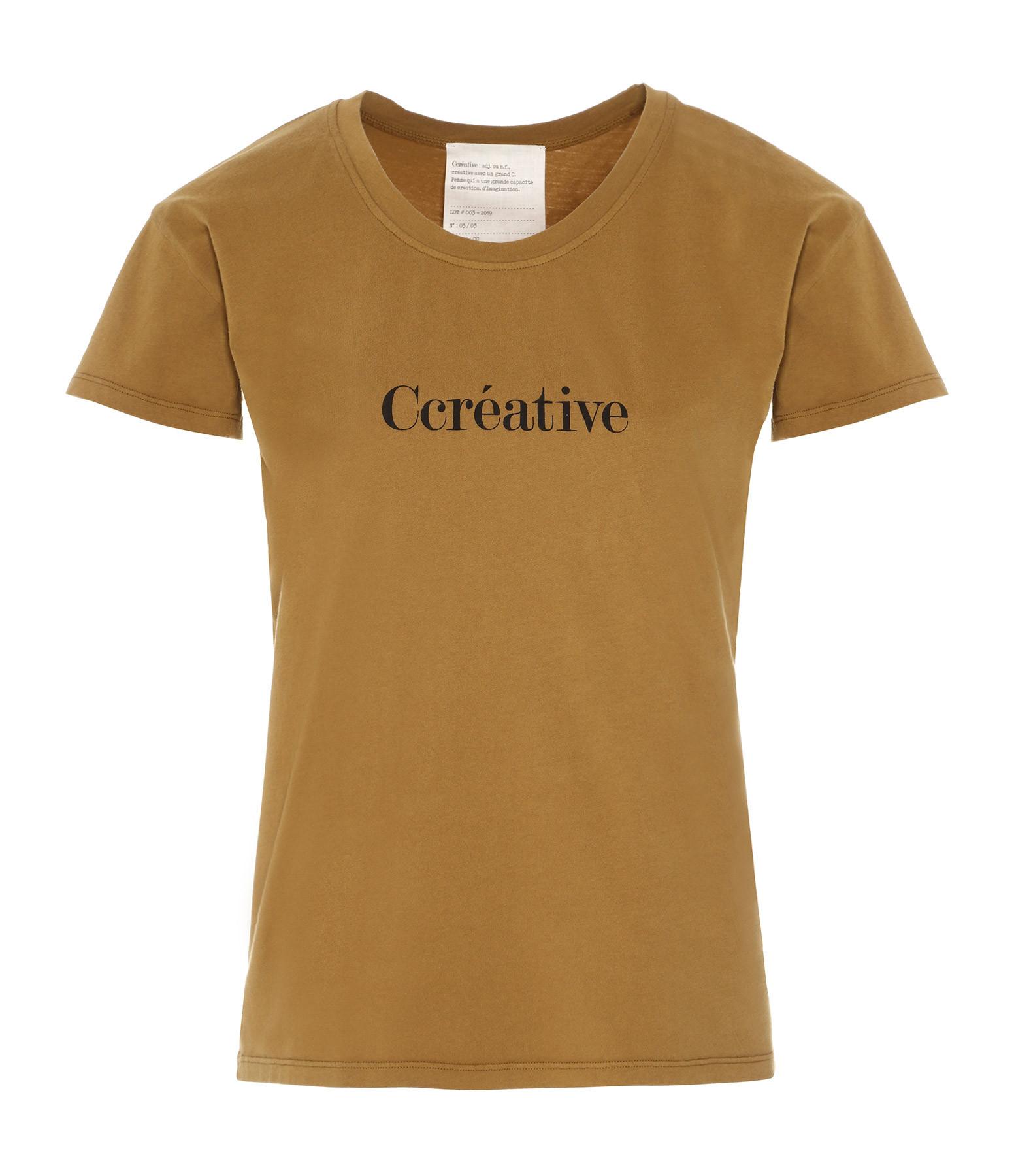 VANESSA BRUNO - Tee-shirt Ccréative Coton Kaki