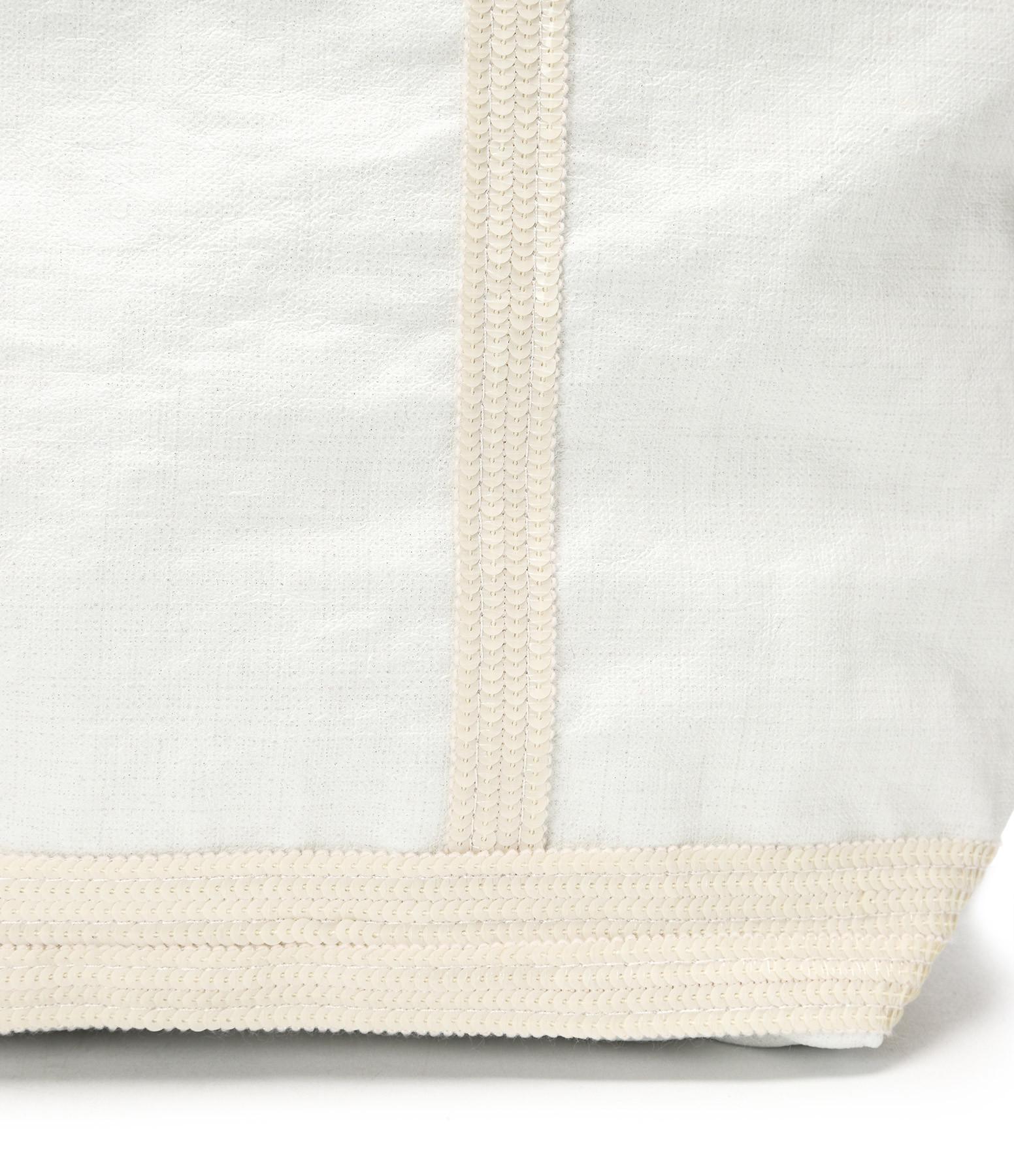VANESSA BRUNO - Cabas Grand Lin Cire Blanc