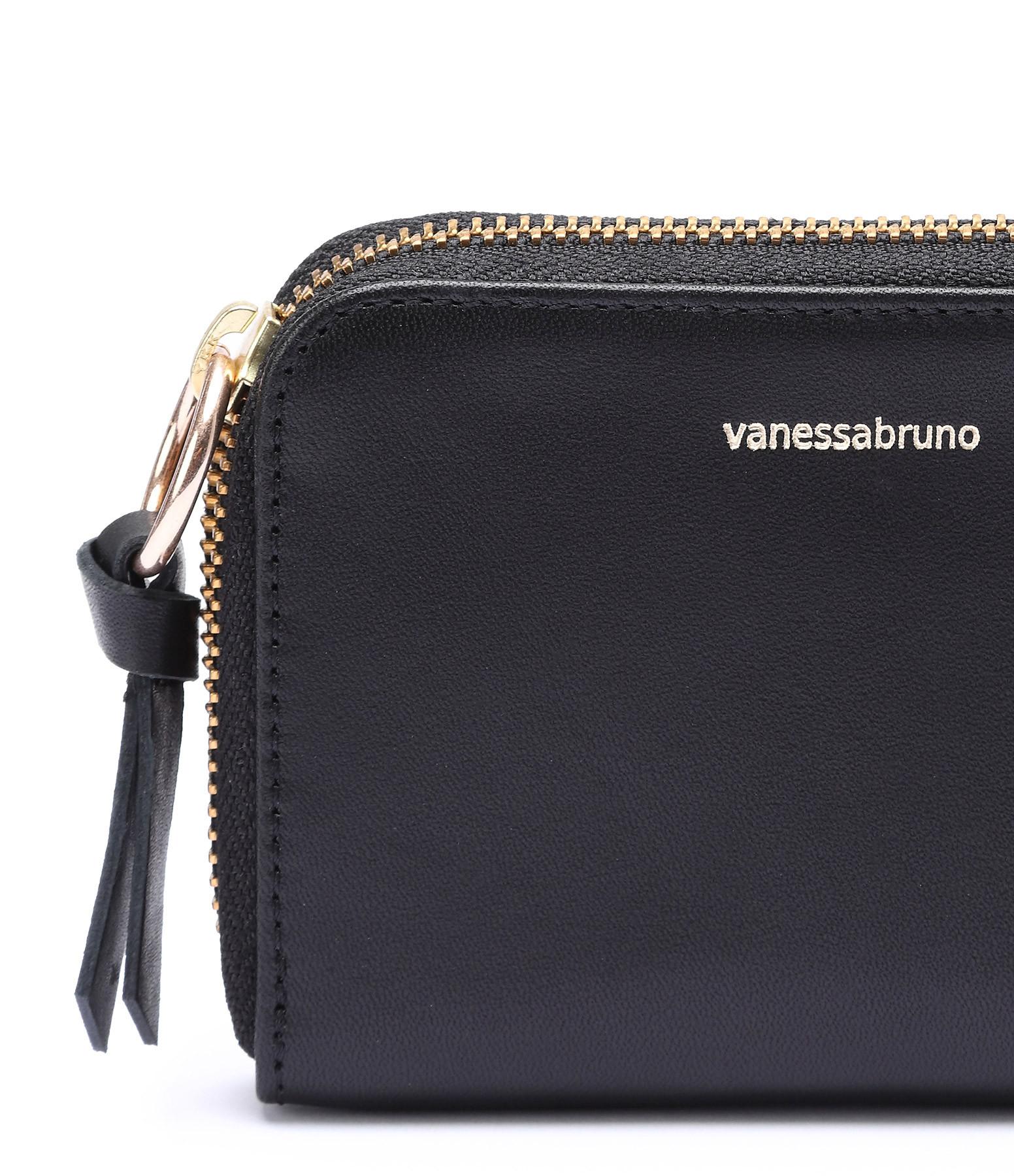 VANESSA BRUNO - Porte-monnaie Charly PM Cuir Noir